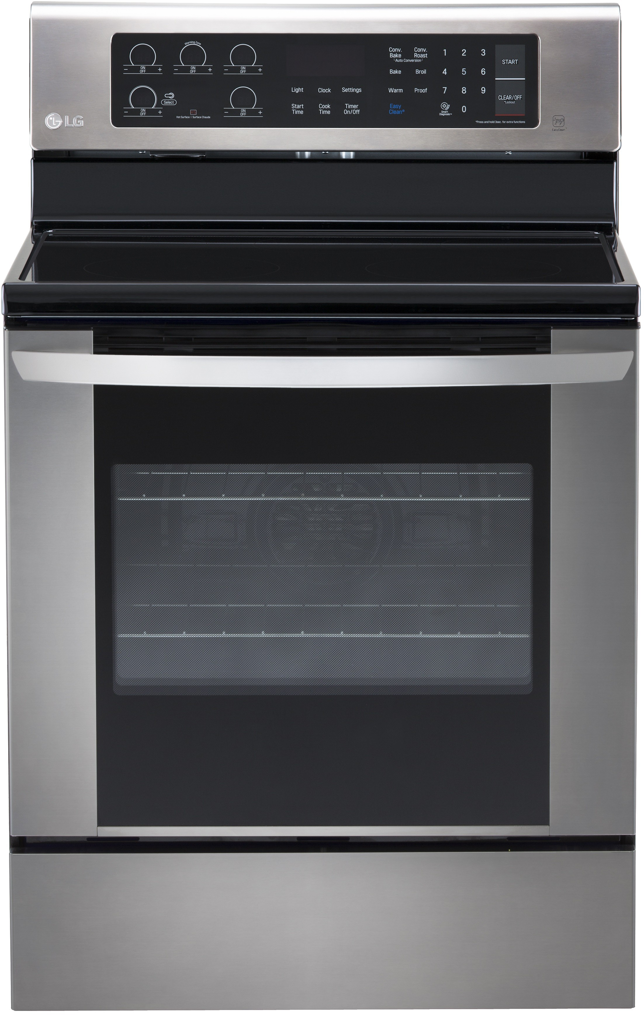 Lg Lre3061st 30 Inch Electric Range With True Convection Burner 5 Heating Elements 6 3 Cu Ft Oven Capacity Brilliant Blue Interior And Storage