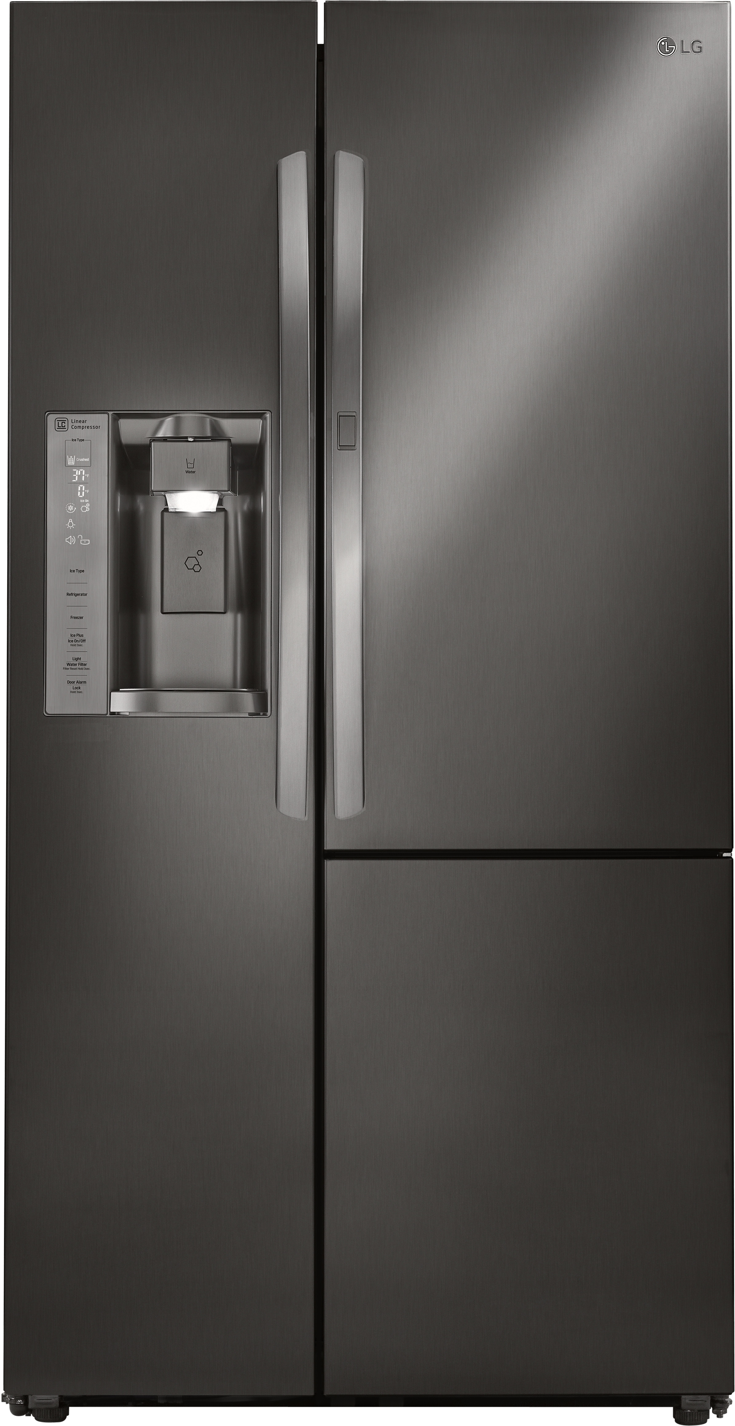 Lg Lsxs26366d 36 Inch Side By Refrigerator With Door In Coldsaver Panel Linear Compressor Ice And Water Dispenser Air Filter