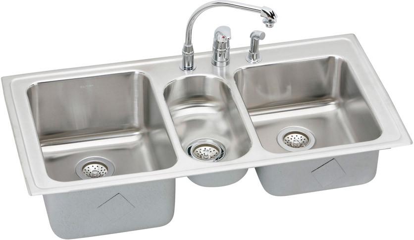 "stainless steel width: 42"" - 48.9"" sinks"