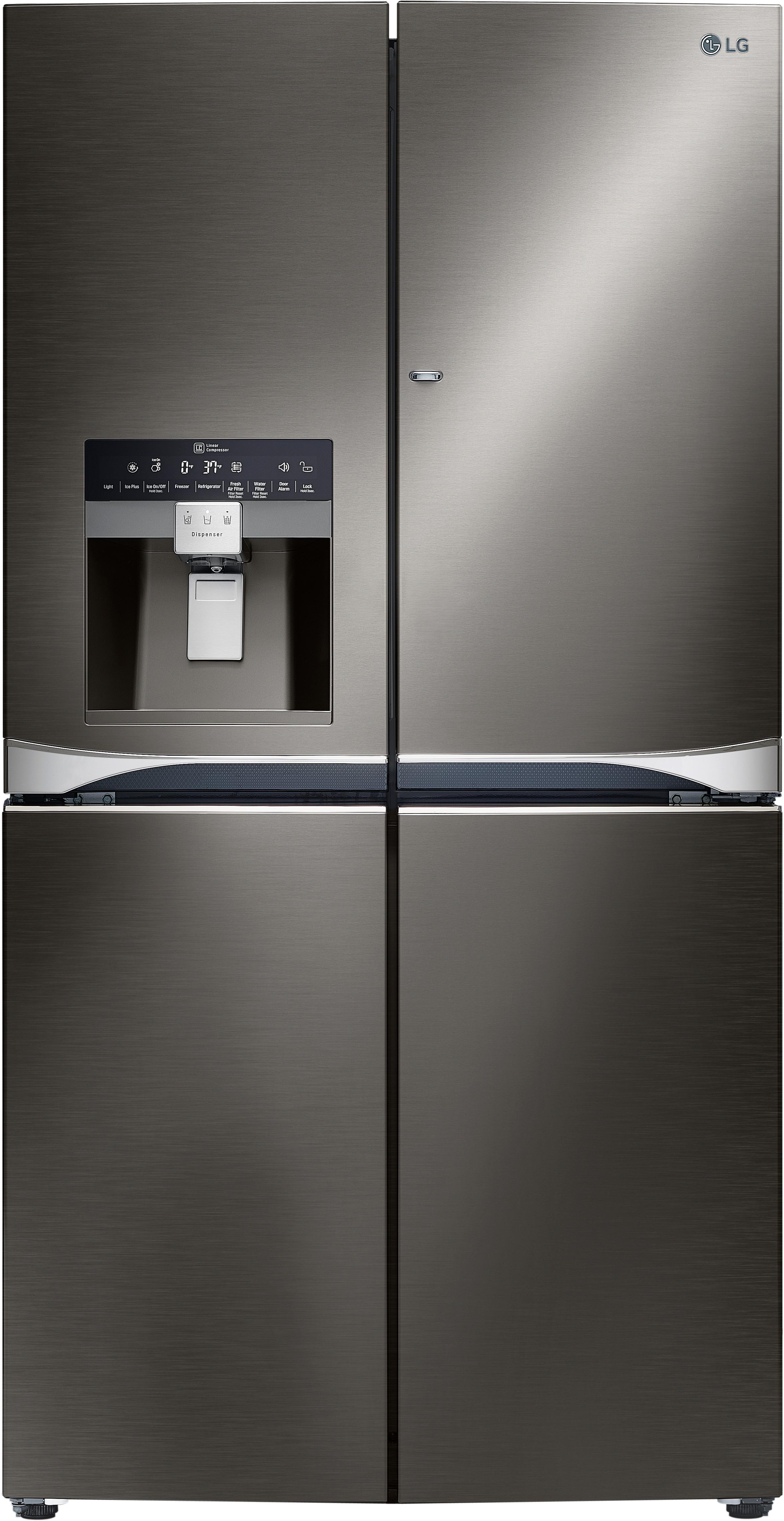 LG LPXS30866 36 Inch French Door Refrigerator With 30 Cu. Ft. Capacity, 4  Adjustable Glass Selves, Door In Door, Gallon Door Storage, Smart Cooling  Plus ...