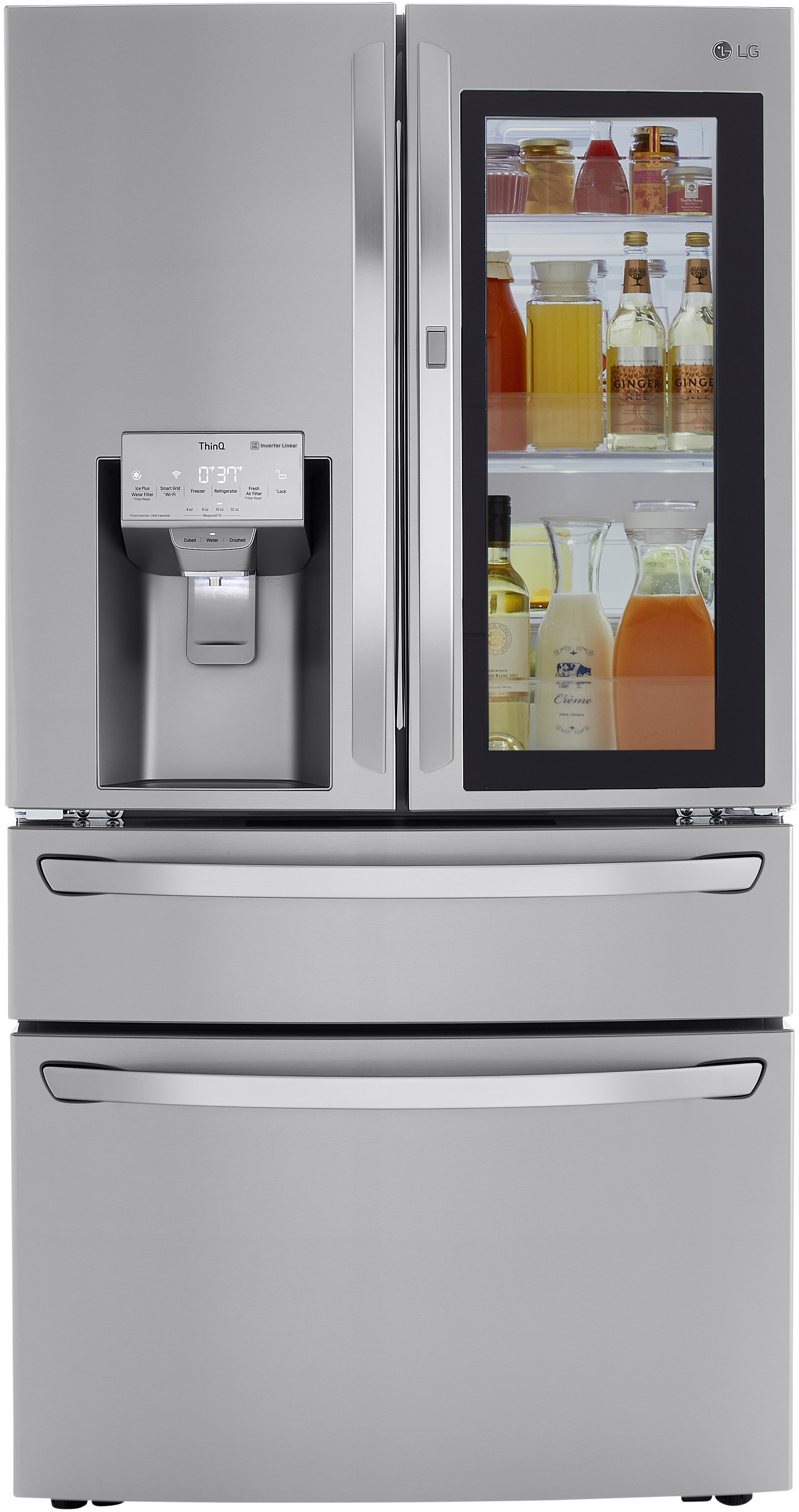 LG LRMVC2306S 23 Cu.Ft Stainless French Door Smart Refrigerator