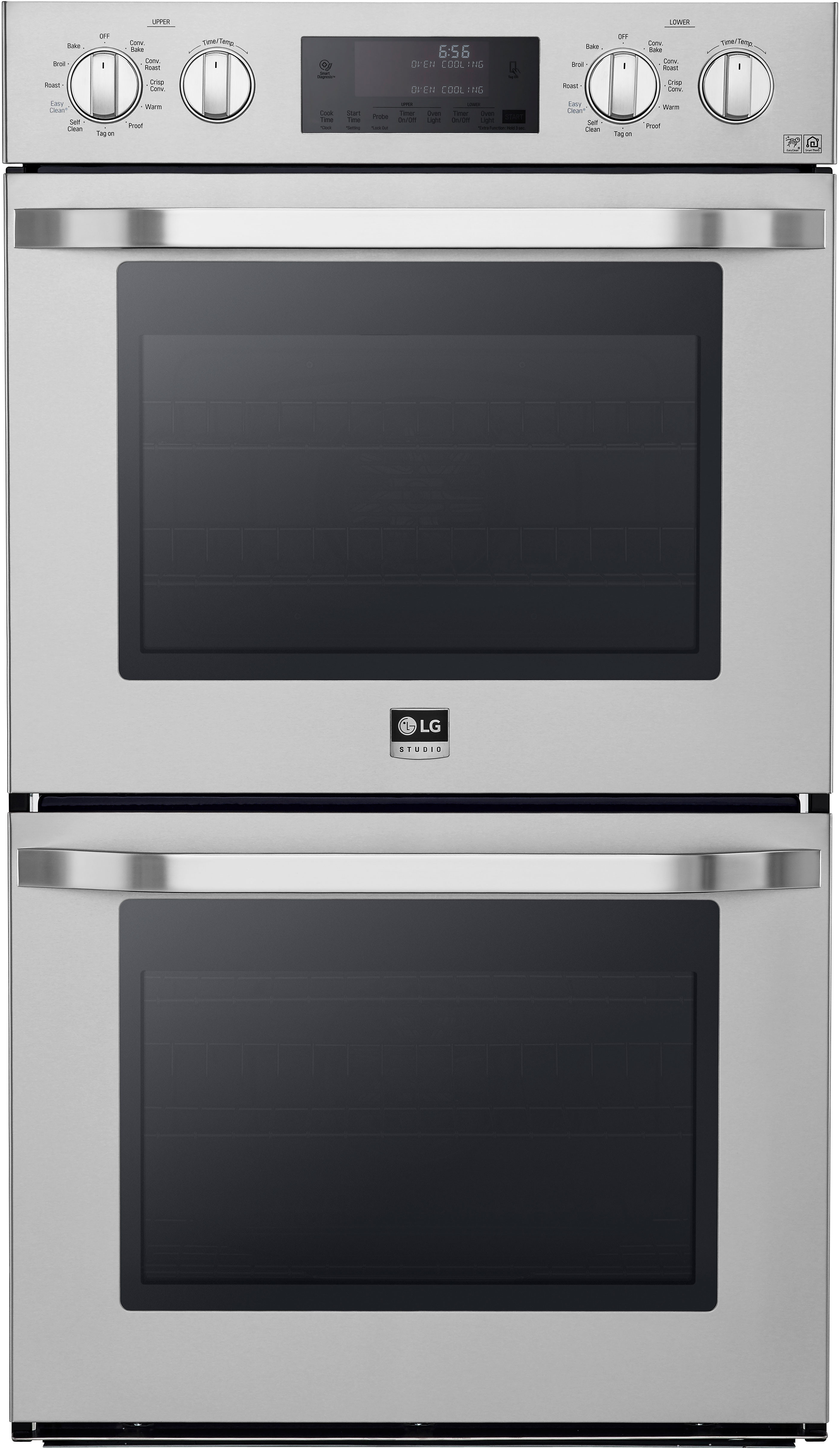 Lg Lswd306st 30 Inch Double Electric Wall Oven With Convectionc Temperature Probec Easycleanc 9 4 Total Capacity Hidden Bake Element 2 500w 8 P Broiler