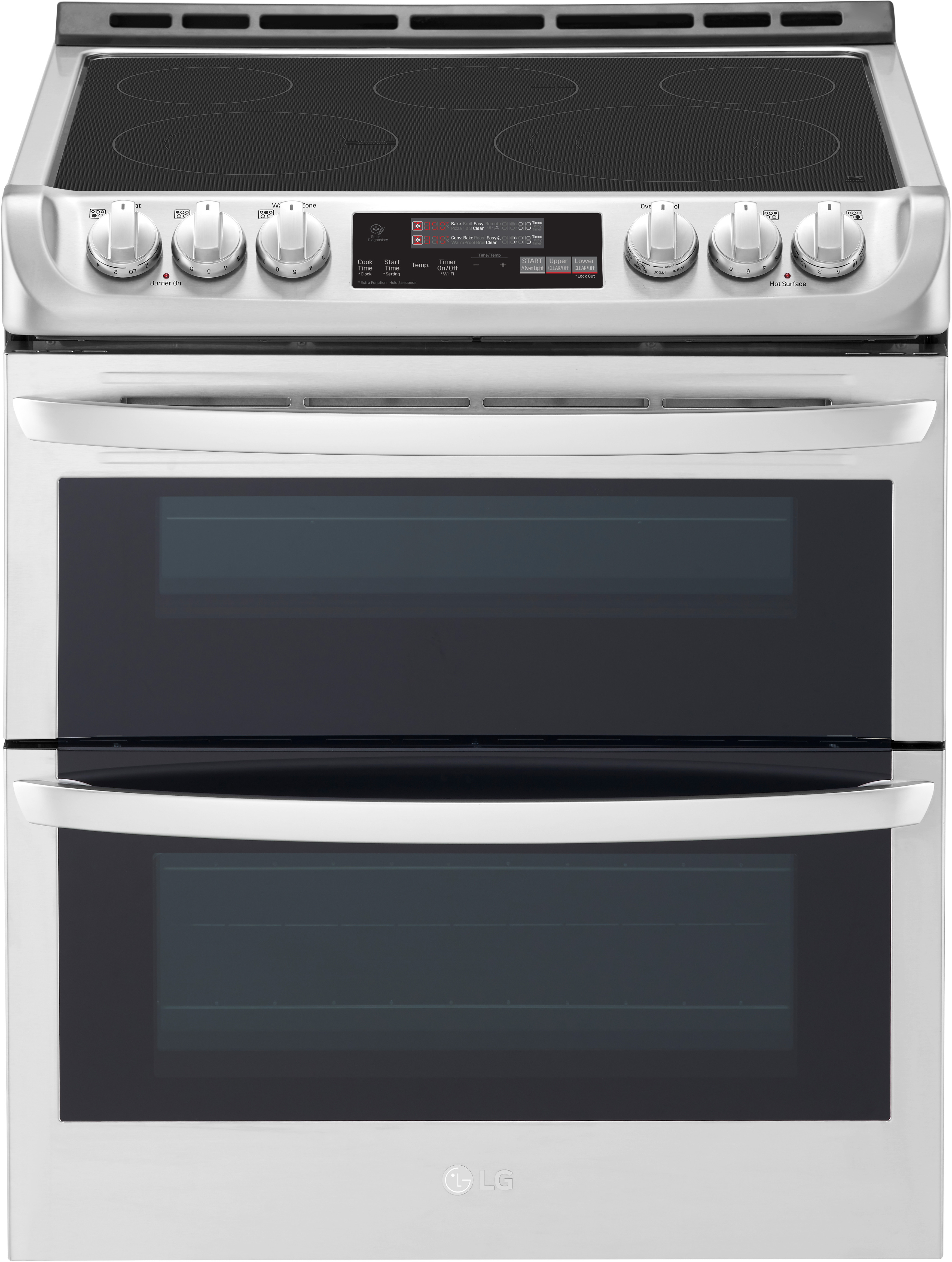 Lg Lte4815st 30 Inch Slide In Double Oven Electric Range With