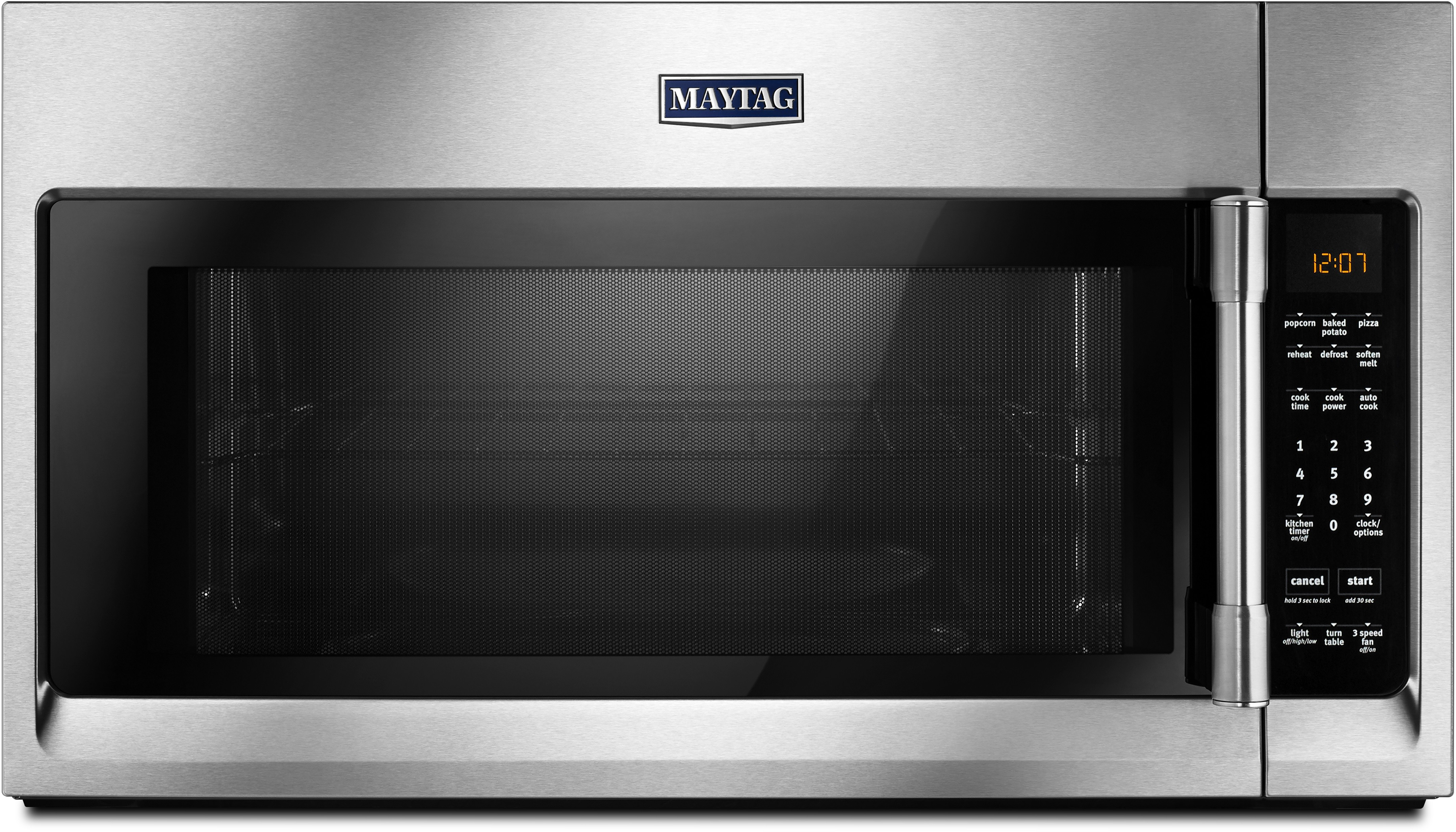 Maytag MMV4206FZ 2.0 cu. ft. Over-the-Range Microwave Oven with Sensor  Reheat, Charcoal Filter, 2.0 cu. ft. Capacity, 1,000 Cooking Watts, 400  CFM, ...
