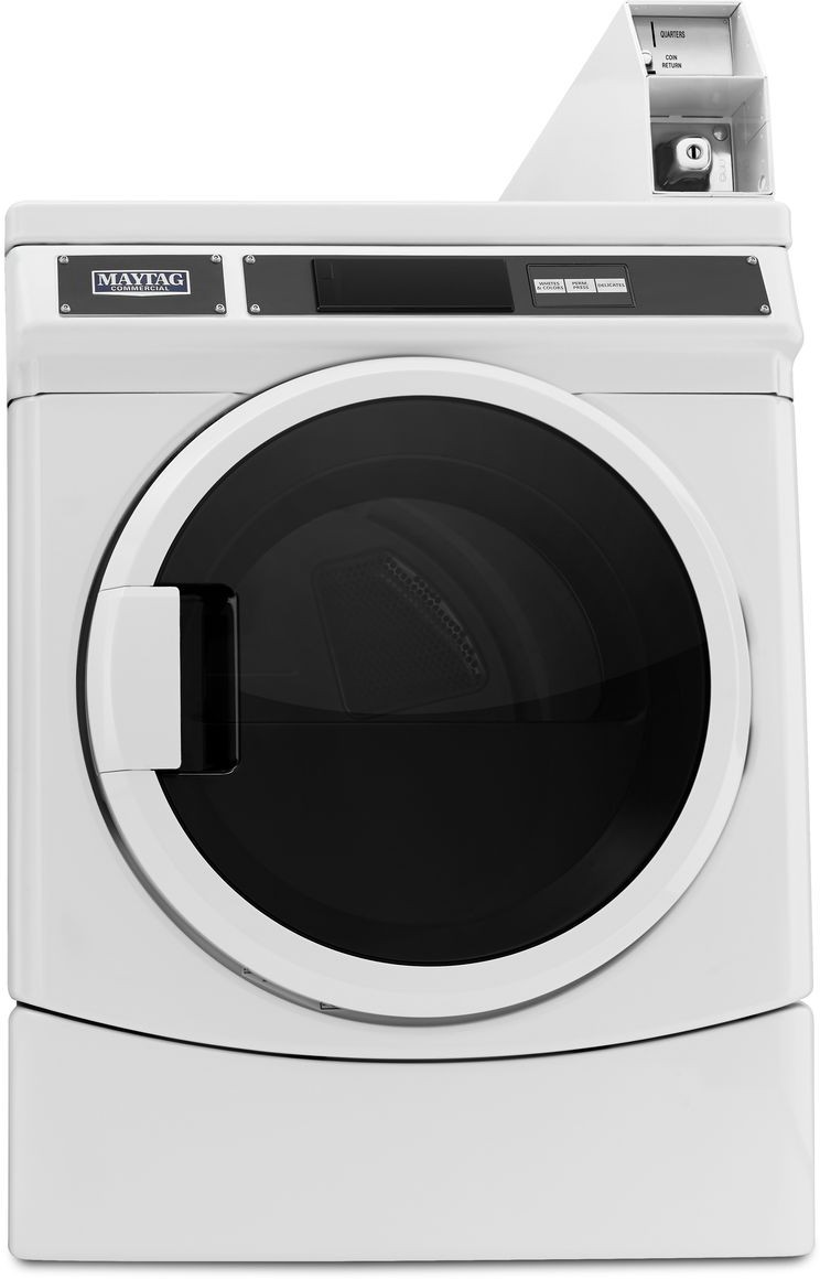 Maytag MDE28PDCYW 27 Inch Commercial Electric Dryer with 6 7