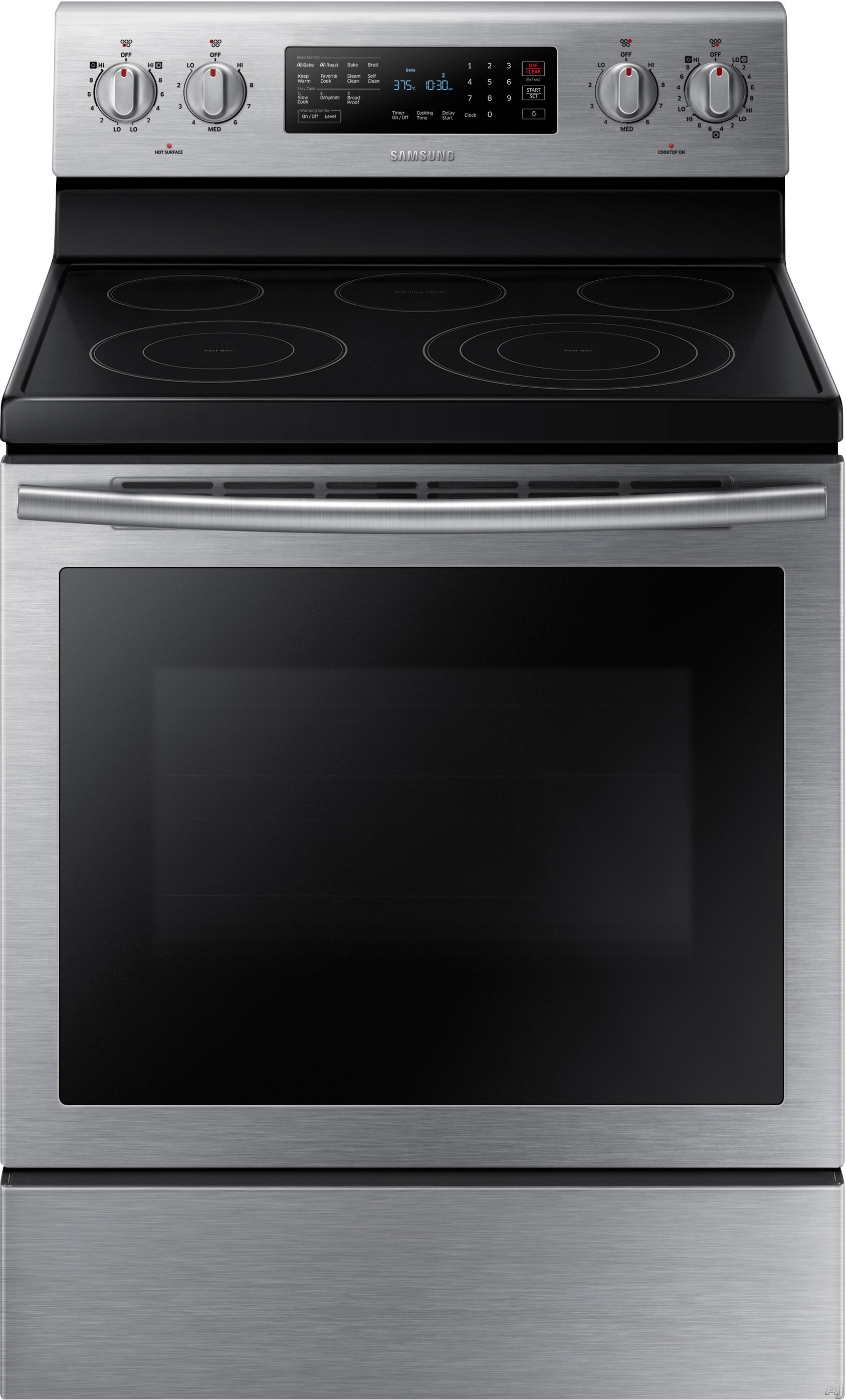 Samsung Ne59j7630ss 30 Inch Freestanding Electric Range With 5 9 Cu Ft True Convection Oven Smoothtop Elements 6 3 300w Burner