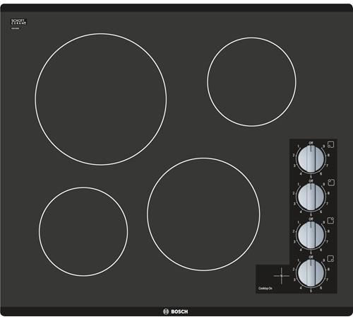 """Image of Bosch 500 24"""" Electric Drop-In Cooktop NEM5466UC"""