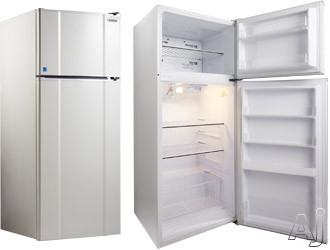 MicroFridge 24 Inch 10.3 Cu. Ft. Counter Depth Top Freezer Refrigerator Black 103RMF4R