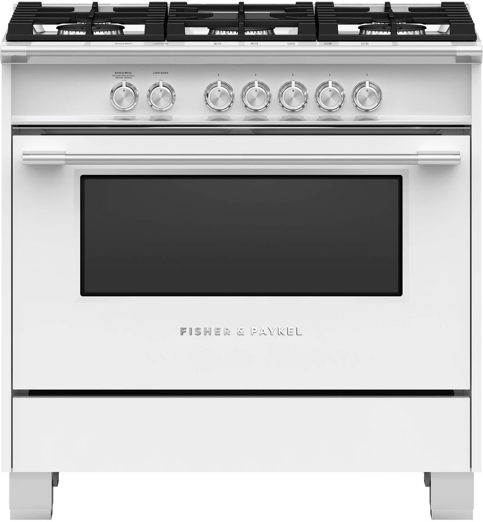Fisher & Paykel OR36SCG4W1 36 Inch Freestanding Gas Range with ...