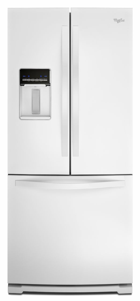 Superbe Whirlpool WRF560SEYW 30 Inch French Door Refrigerator With FreshFlow™  Produce Preserver, FreshFlow™ Air Filter, Adaptive Defrost, External  Dispenser, ...