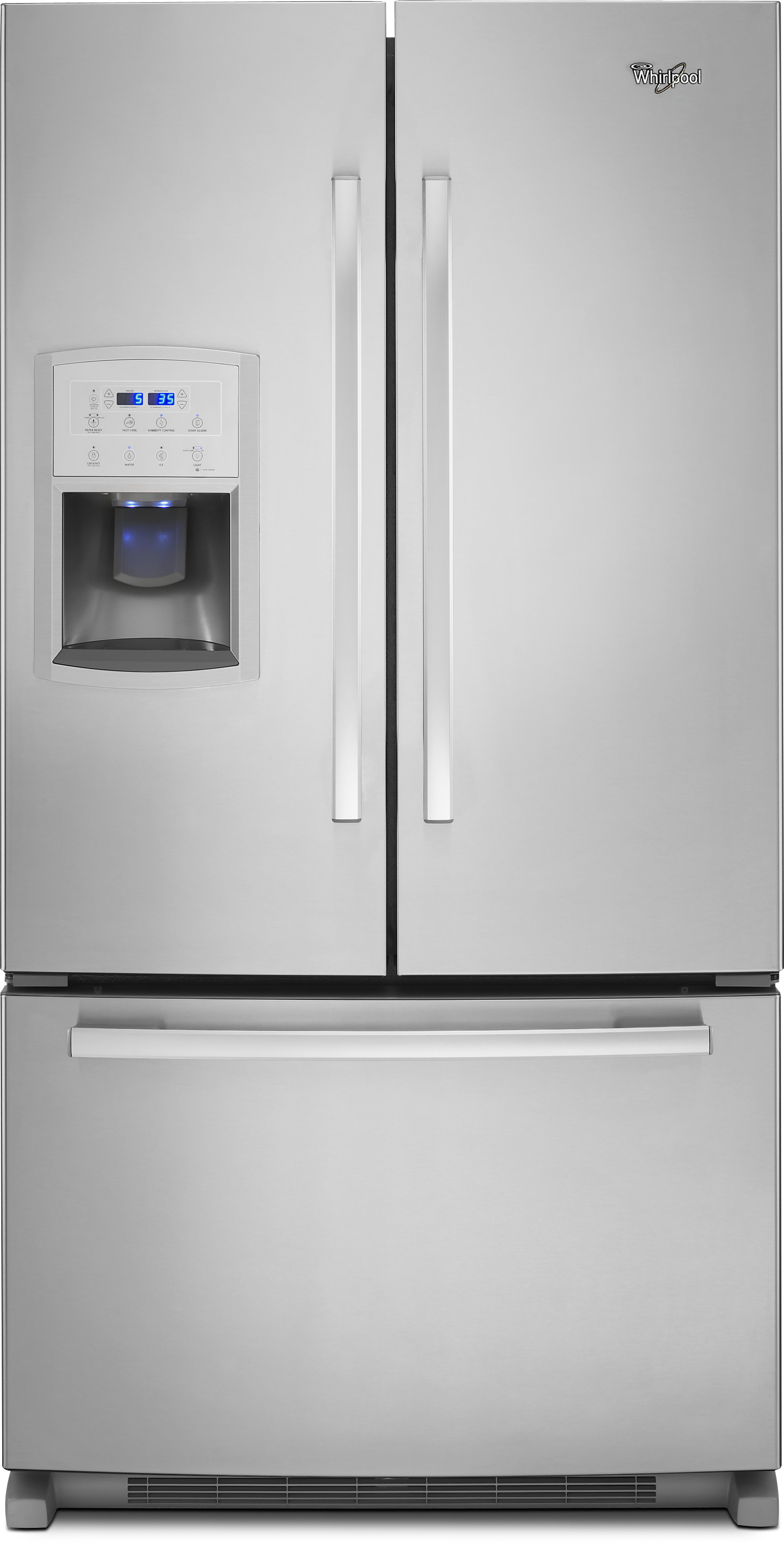 Whirlpool GI0FSAXVY 36 Inch Counter Depth French Door Refrigerator With  Temperature Controlled Pantry, PuR® Water Filter, Adaptive Defrost, ...