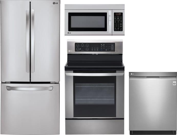Lg Lgreradwmw1587 4 Piece Kitchen Appliances Package With