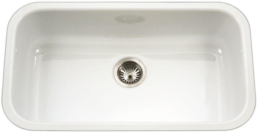 PCG3600WH 30 Inch Undermount Large Single Bowl Kitchen Sink with