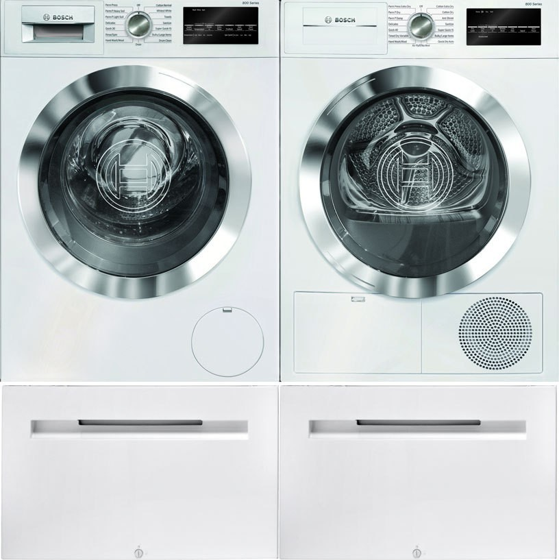 Bosch Bowadreuc4021 Side By Side On Pedestals Washer