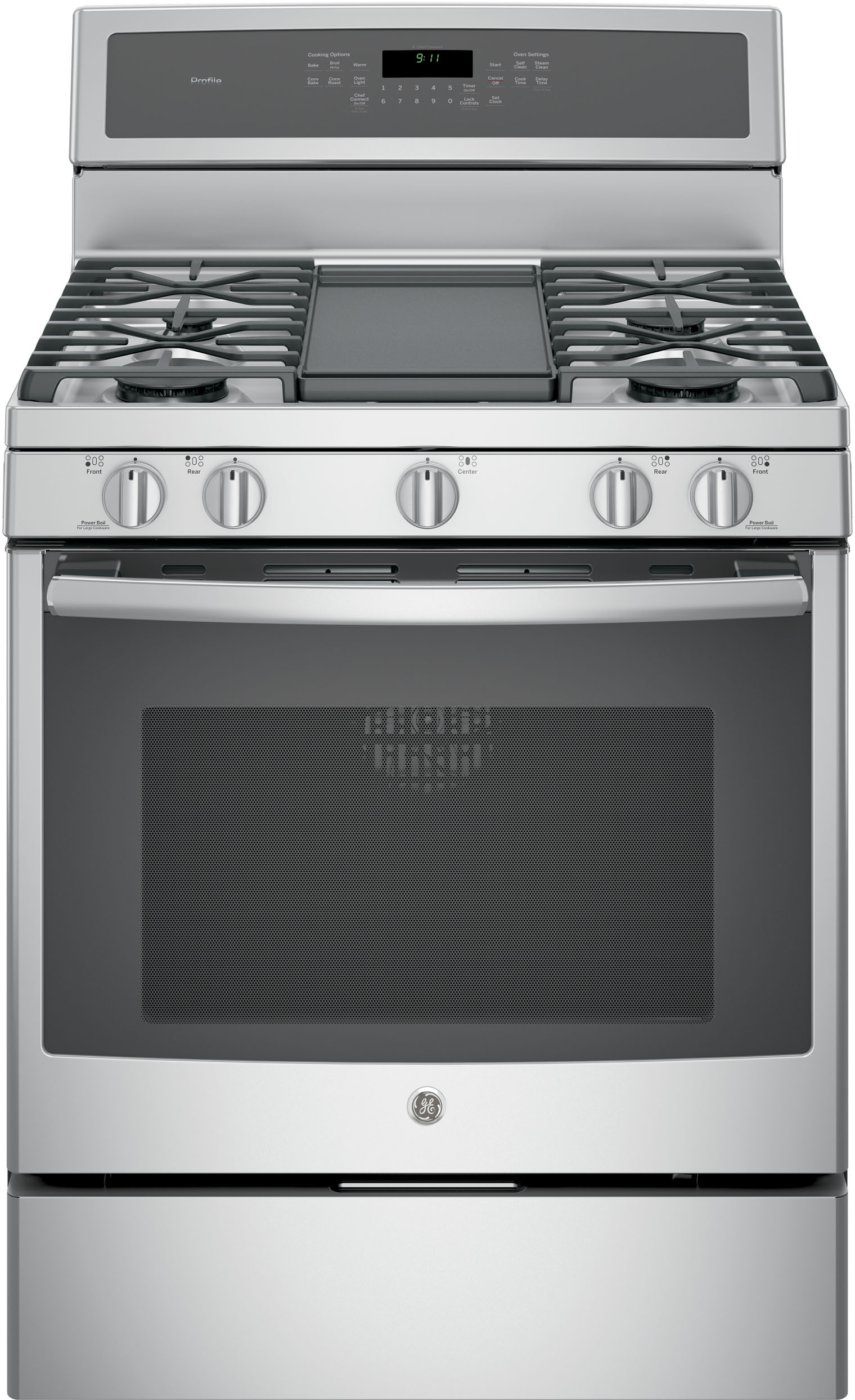 GE PGB911ZEJSS 30 Inch Freestanding Gas Range with 5