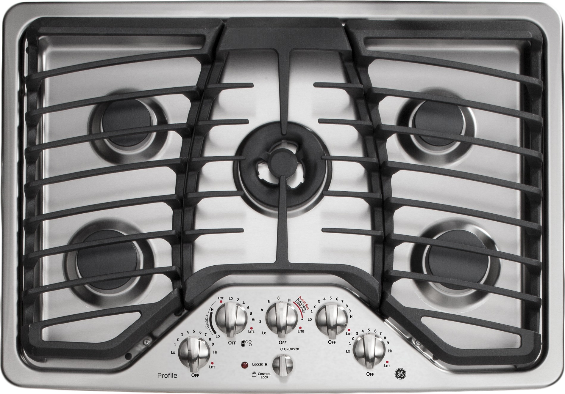 Ge Pgp959setss 30 Inch Gas Cooktop With