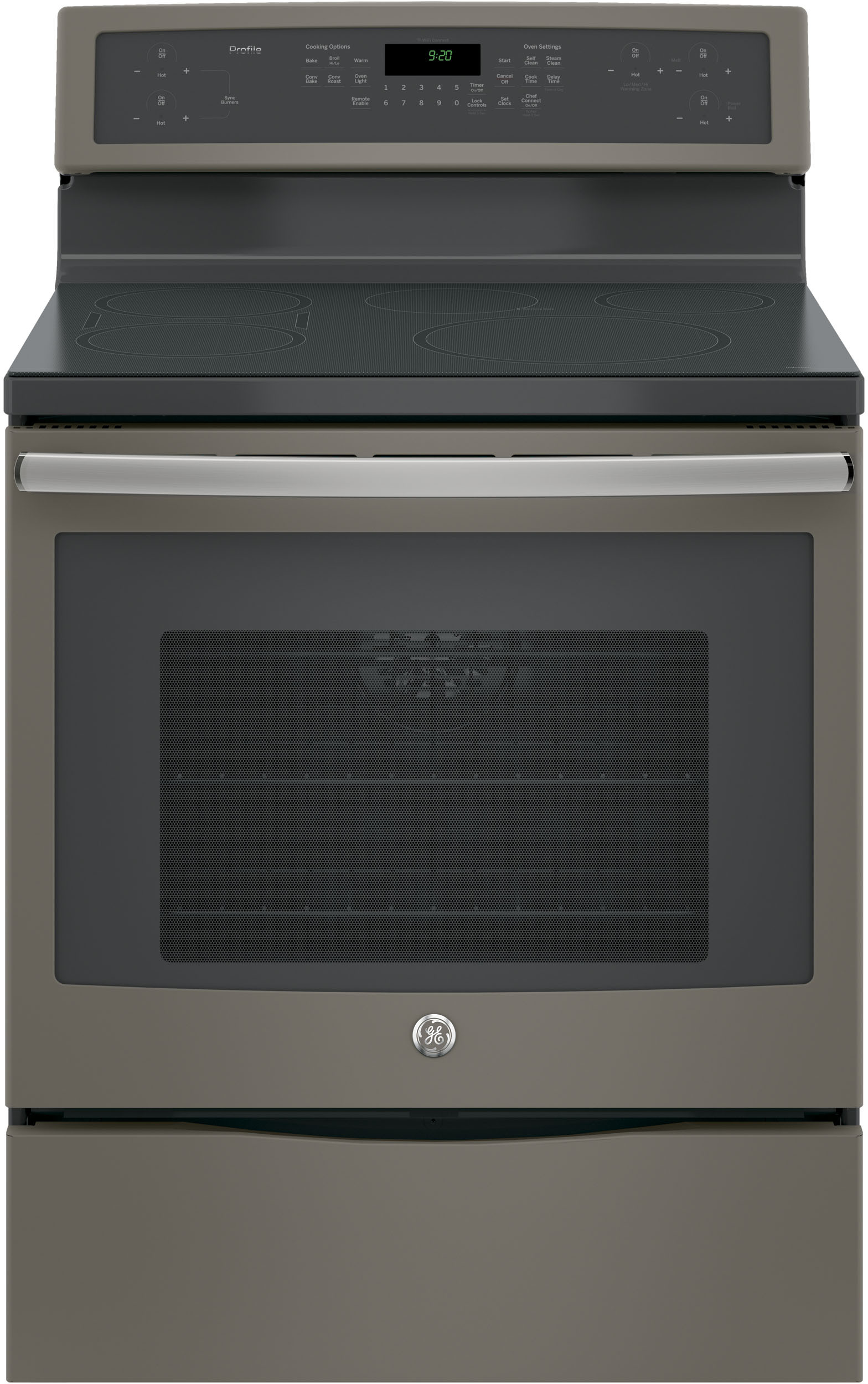 Ge Phb920ejes 30 Inch Freestanding Induction Range With True Convection Wifi Connect Chef Synchronized Bridge Element Warming Zone