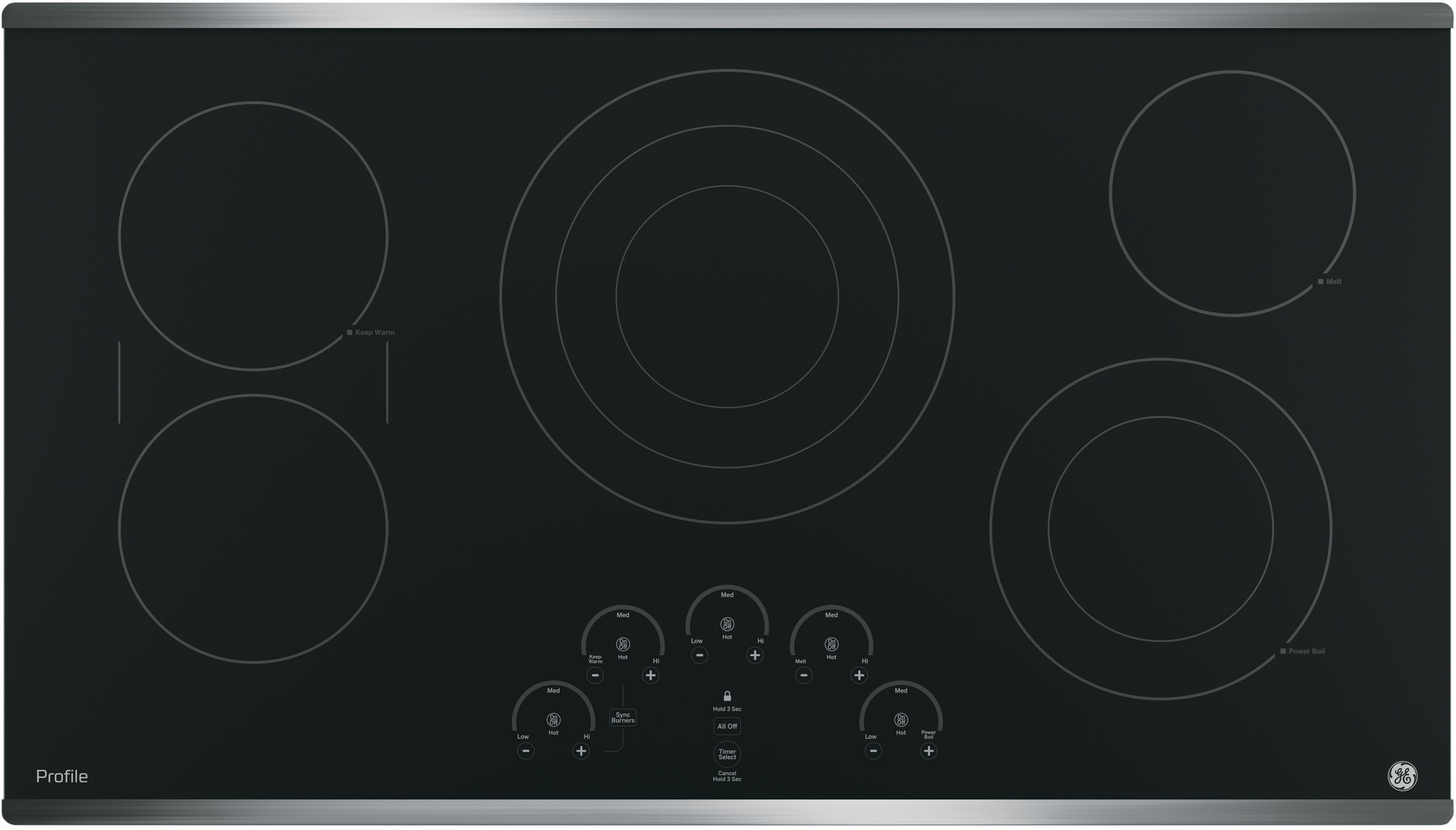 Ge Pp9036sjss 36 Inch Electric Cooktop