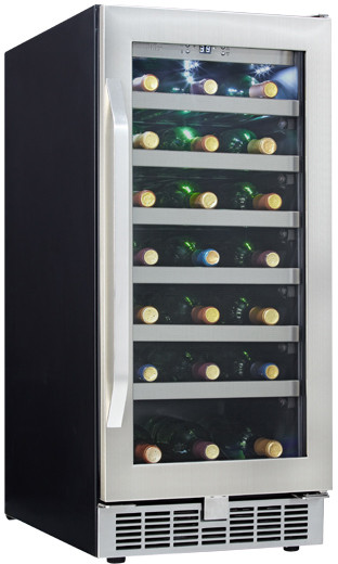 Danby Dwc93blsst 15 Inch Undercounter Wine Cooler With 34