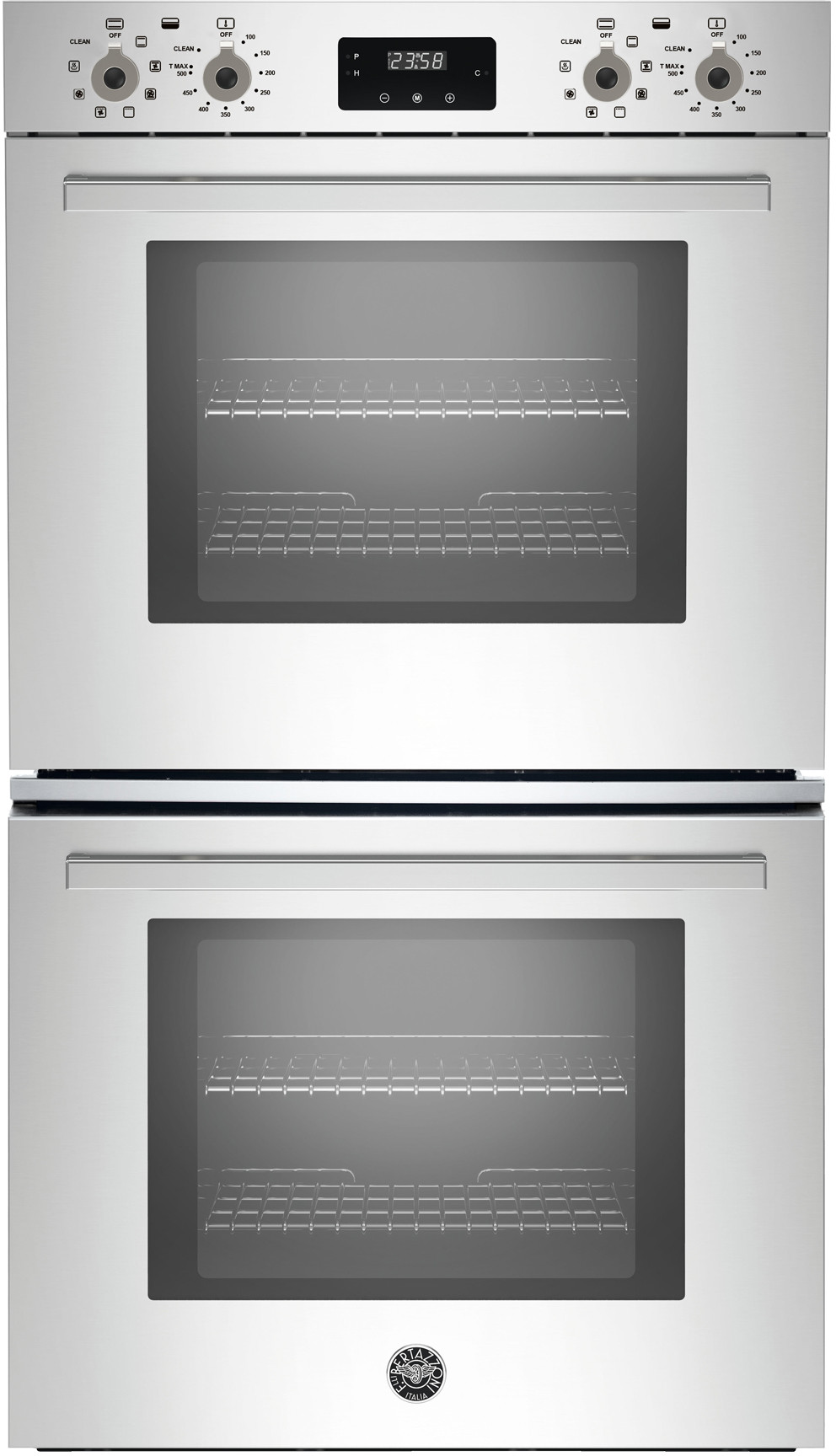 Bertazzoni Profd30xv 30 Inch Double Electric Wall Oven With 8 2 Cu