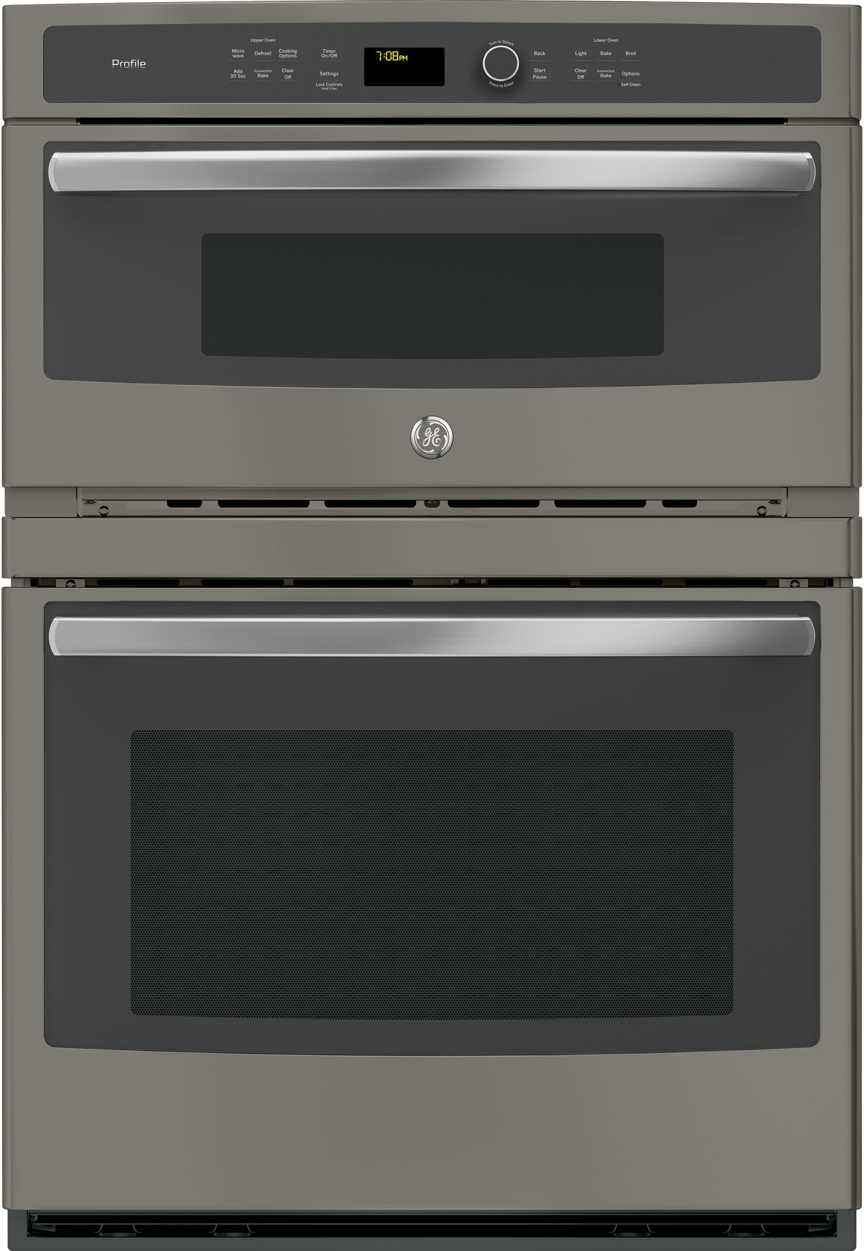 Ge Pt7800ekes 30 Inch Combination Wall Oven With True European Convection Meat Probe Proof Mode Warm 5 0 Cu Ft Capacity 1 7 Microwave