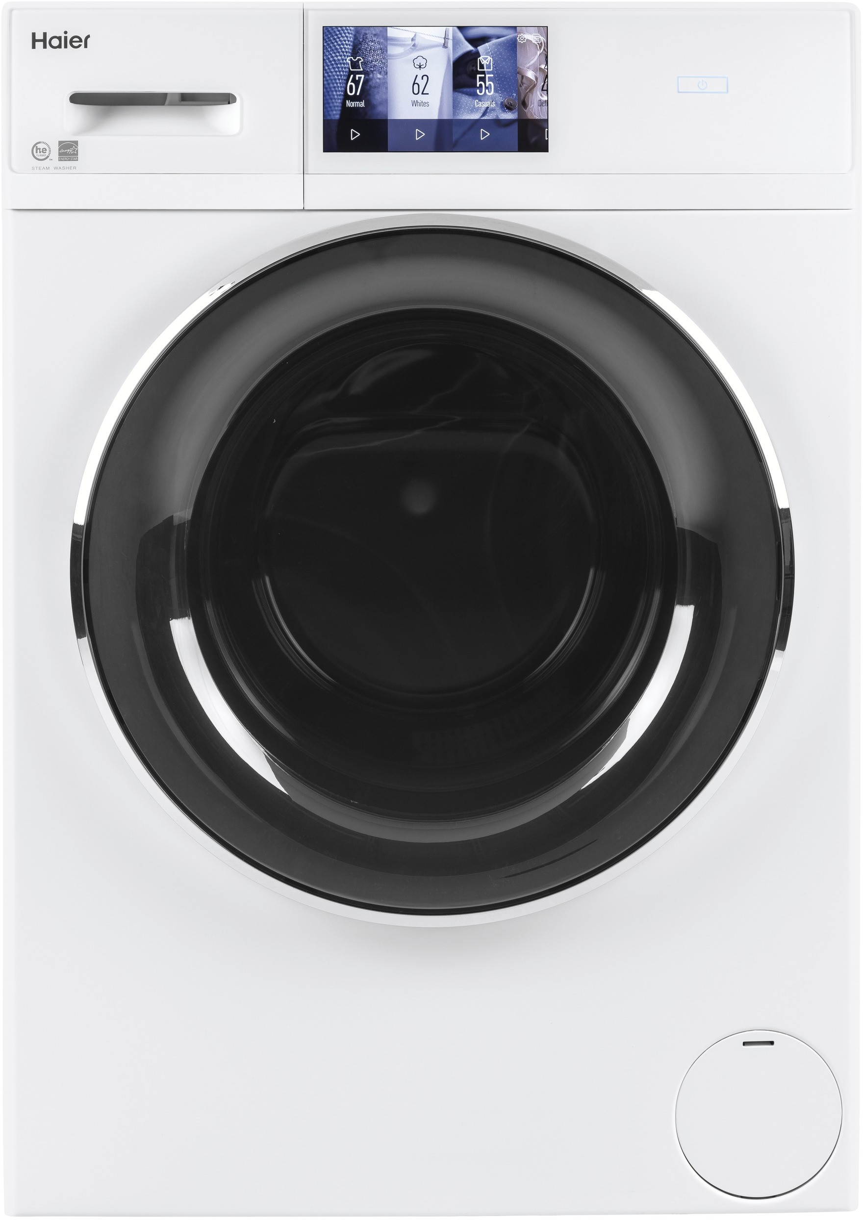 Haier Qfw150ssnww 24 Inch Smart Front Load Washer With 16 Cycles