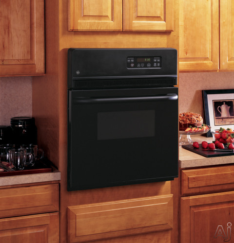 Ge Jrs06bjbb 24 Inch Single Electric Wall Oven With 2 7 Cu Ft Traditional Manual Clean Interior Light And Smartset Controls Black