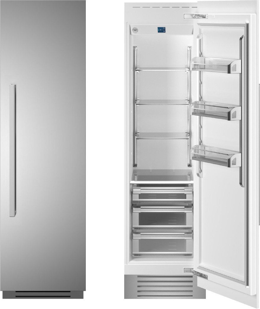 "24 Inch 24"""" Built In Column Refrigerator - Bertazzoni REF24RCPIXR"