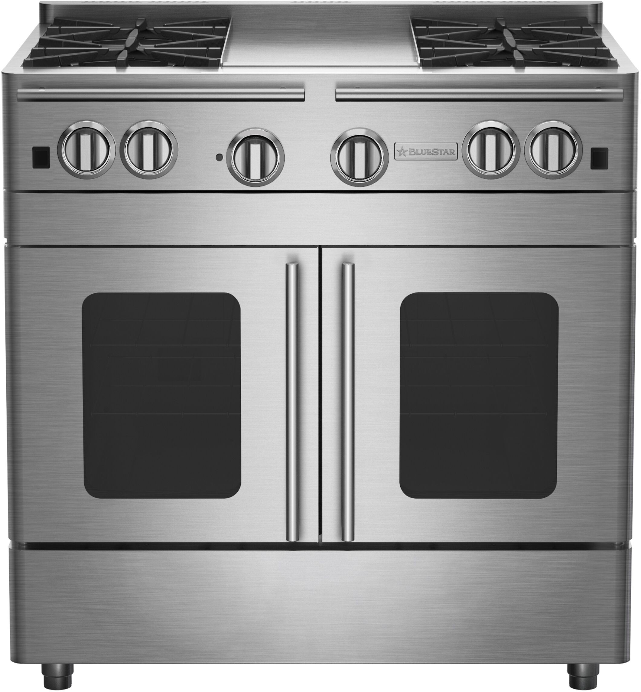 36 Inch Gas Range With 4 Open Burners