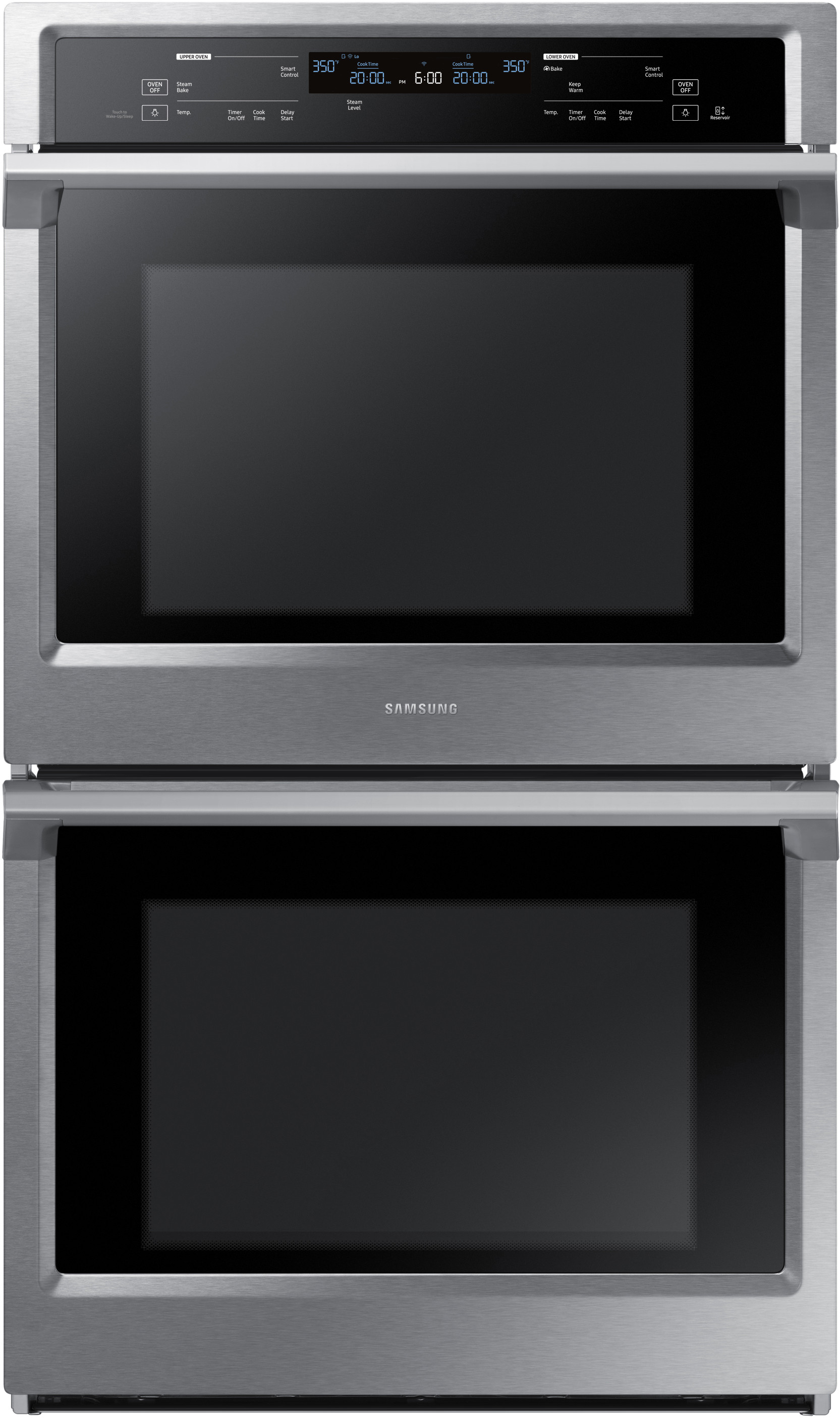 Samsung Nv51k6650ds 30 Inch Electric Double Wall Oven With 51 Cu Wiring Zones Kitchen Ft Capacity Steam Cook Dual Convection Rapid Preheat Delay Bake Electronic Touch
