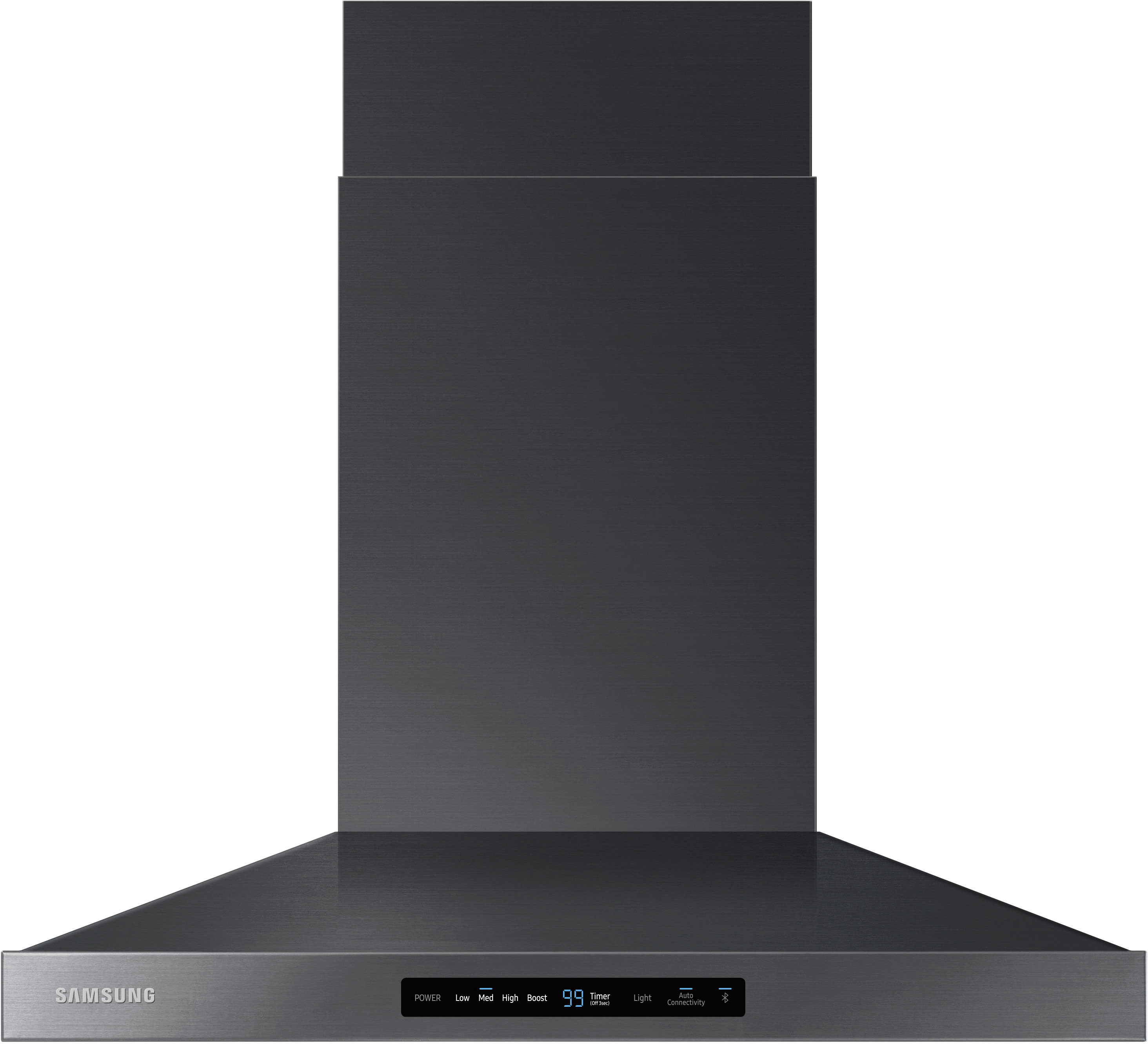 Samsung Nk30k7000wg 30 Inch Wall Mount Chimney Range Hood With 600 Cfm 4 Sds Booster Led Cooktop Lighting Digital Touch Controls Dishwasher Safe