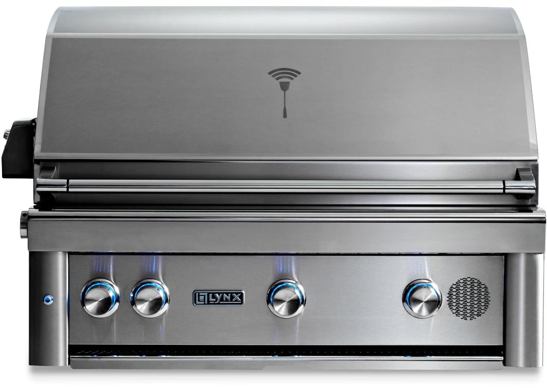 Lynx 36 Built In Grill: Lynx SMART36NG 36 Inch Built-In Smart Grill With MyChef