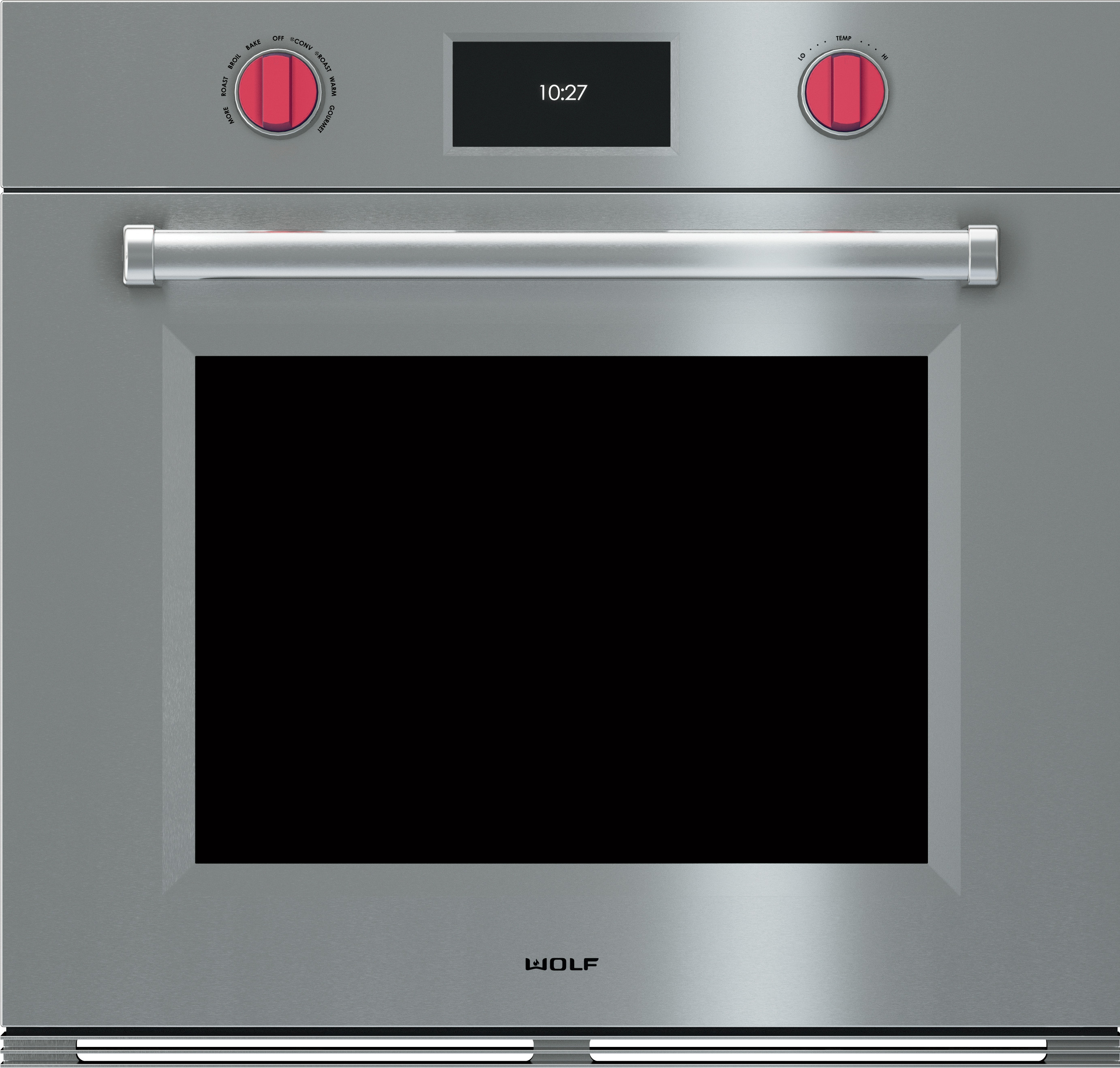 Wolf So30pmsph 30 Inch Single Electric Wall Oven With 5 1 Cu Ft Dual Convection Self Clean 10 Cooking Modes Temperature Probe Color Touch Screen