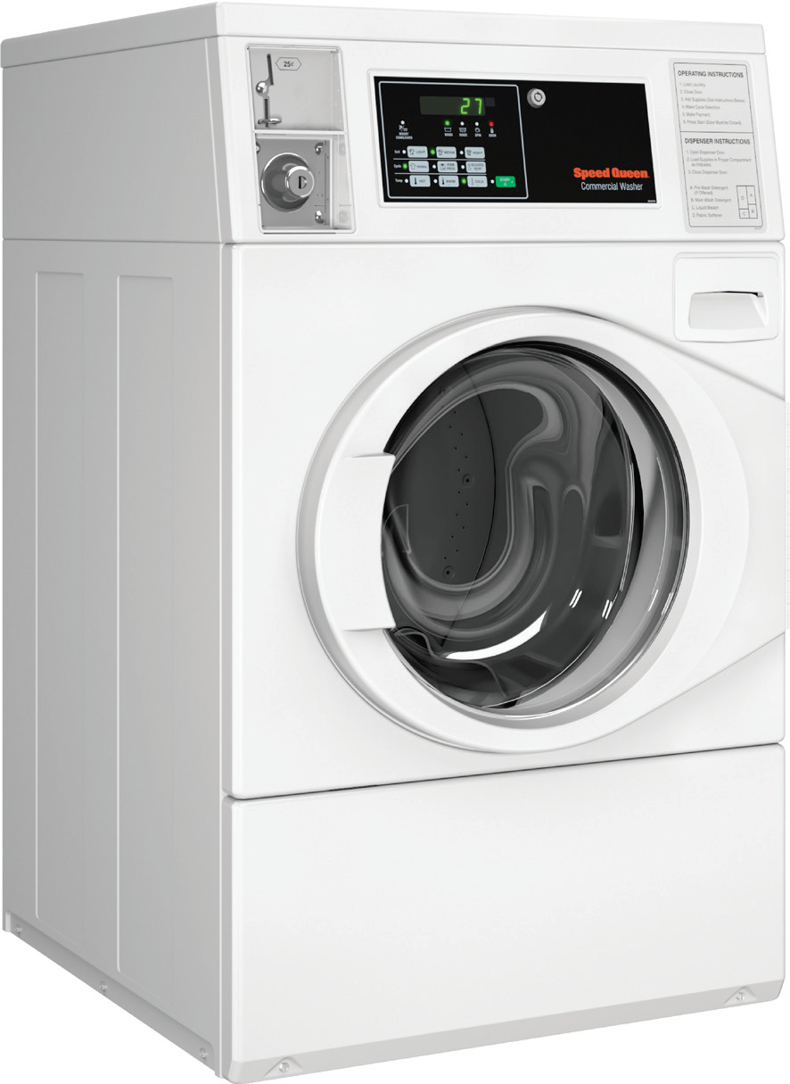 Speed Queen Sfnncasp113tw01 27 Inch Front Load Commercial Washer