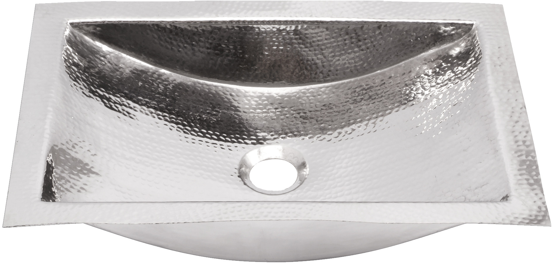 Nantucket Sinks Trs 20 Inch Hand Hammered Rectangle Undermount Bathroom Sink With 18 Gauge Stainless Steel Polished Finish And Hand Hammered