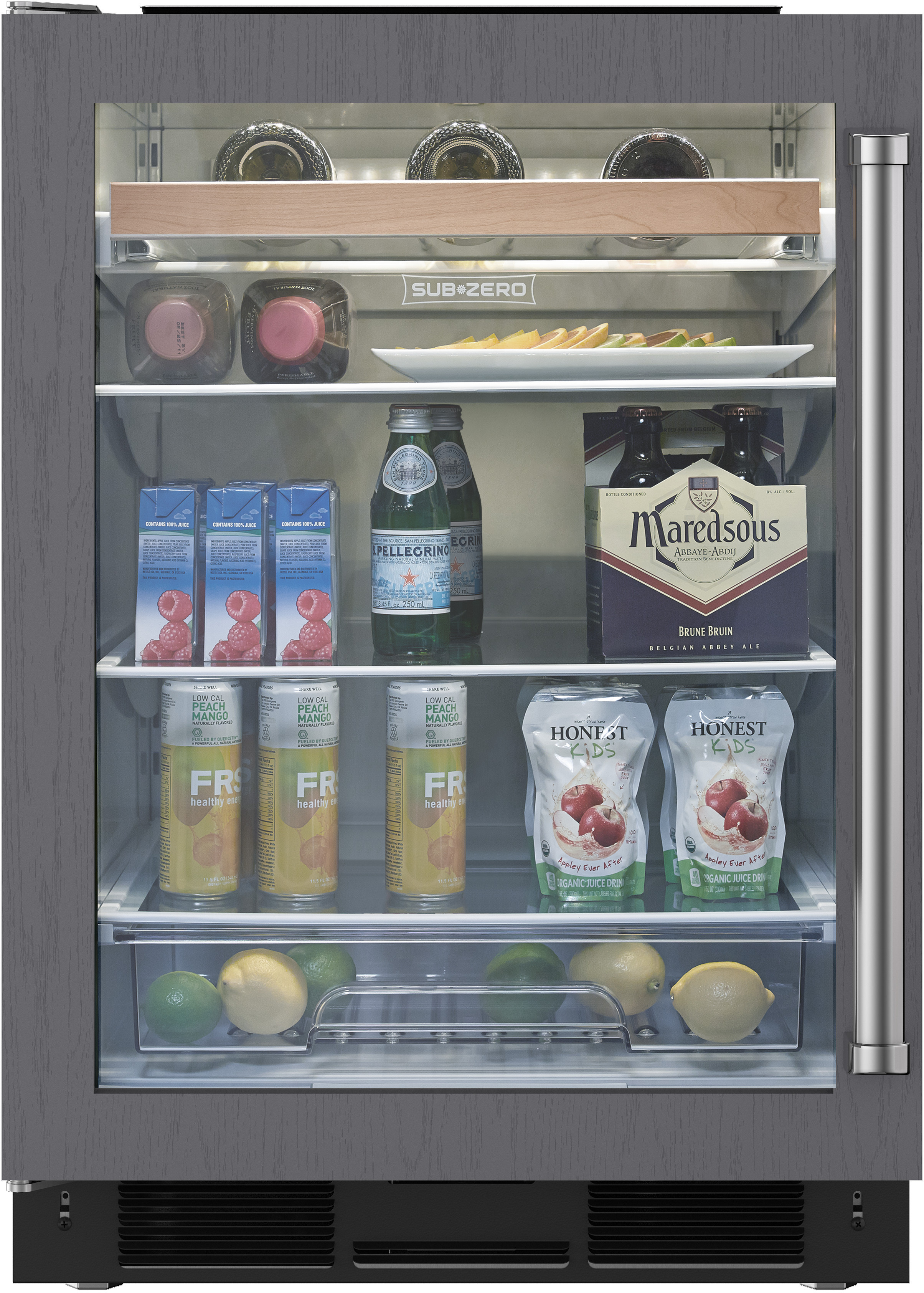 Sub Zero Uc24bgolh 24 Inch Built In Undercounter Beverage Center With 6 0 Cu Ft Capacity 8 Bottle Wine Storage Adjustable Spill Proof Glass Shelf Lcd Display Glass Door And Star K Certified Panel Ready Left Hinge Door
