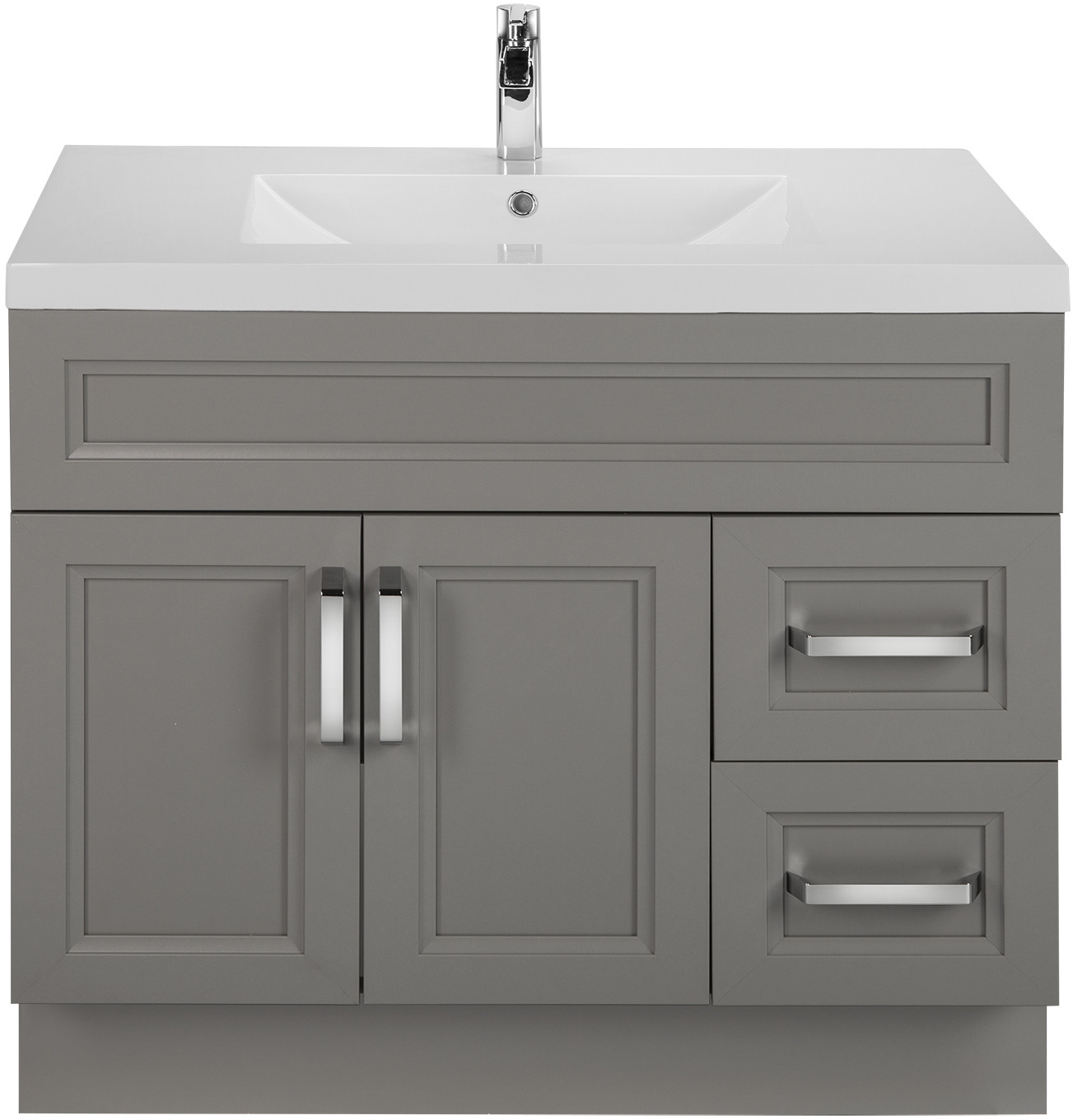 Cutler Kitchen & Bath URBDB36RHT 36 Inch Single Bowl Vanity with ...
