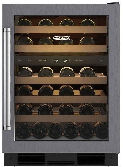 Sub Zero Uw24orh 24 Inch Undercounter Wine Cooler With 46
