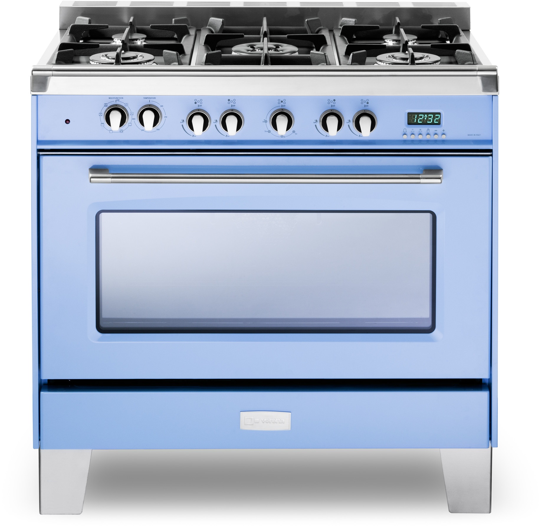 c17453989 Verona Classic Series. VCLFSGE365BL. 36 Inch Pro-Style Dual-Fuel Range with 5  Sealed Burners ...