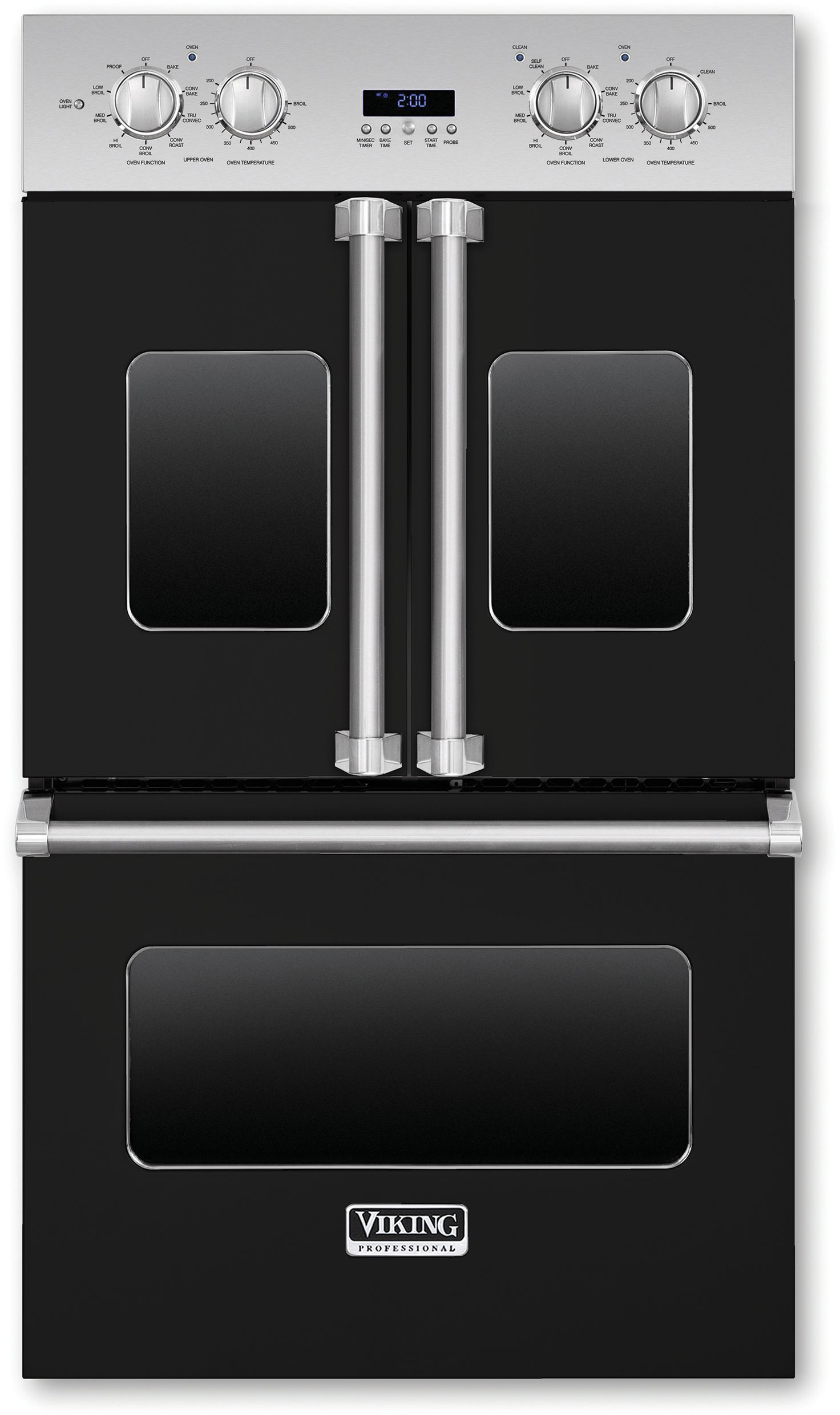 Viking Vdof730bk 30 Inch Double Electric French Door Oven