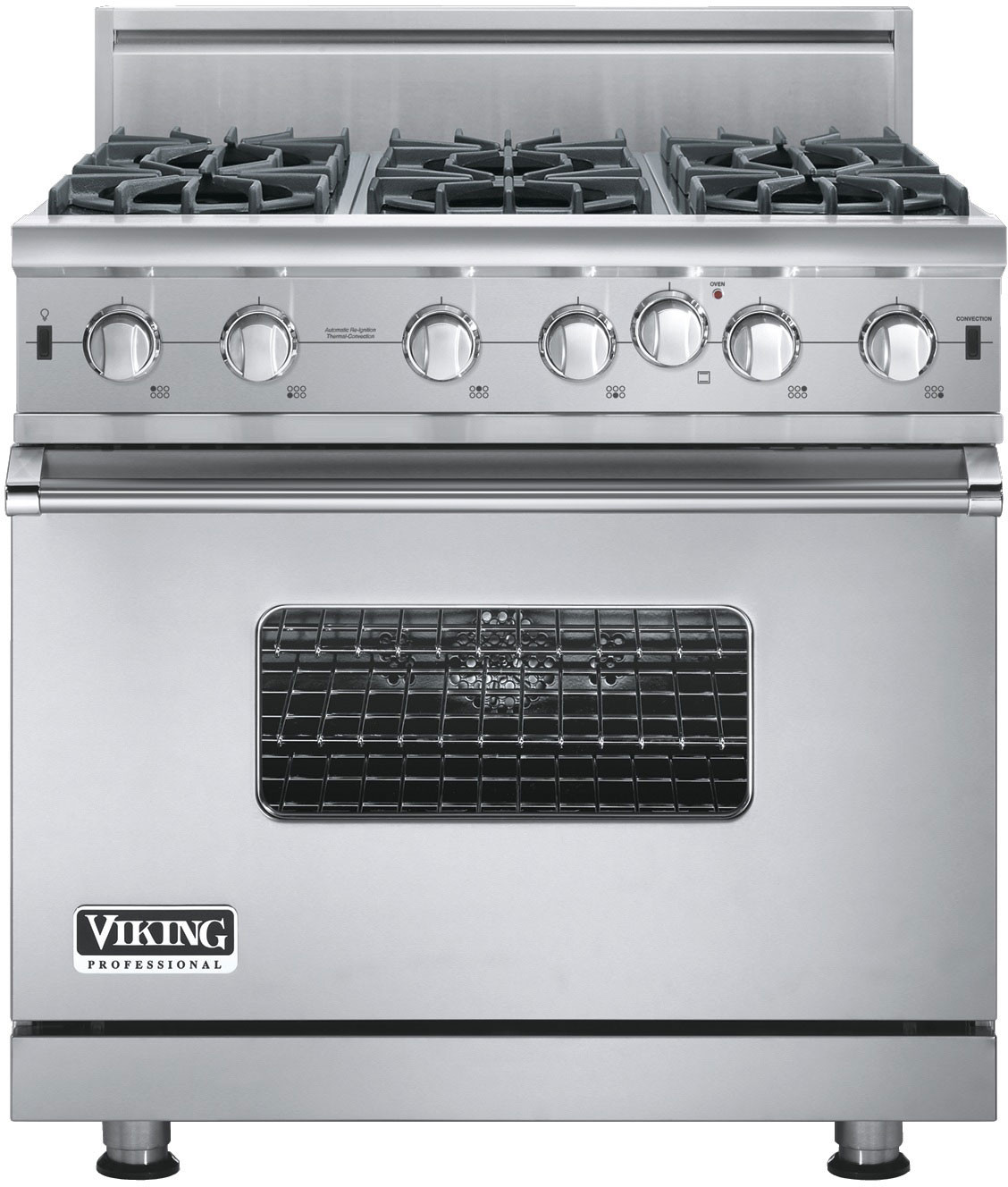 Viking Vgic53616bss 36 Inch Pro Style Gas Range With Convection