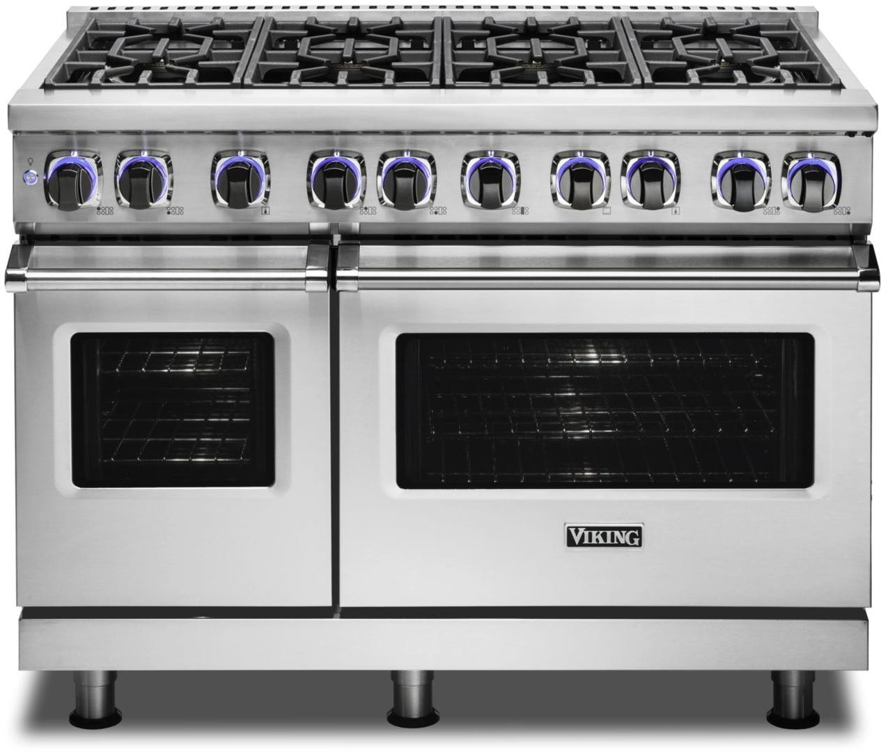 Viking Vgr74828bss 48 Inch Pro Style Freestanding Gas Range With 8 Viking Elevation Burners Varisimmer Setting Surespark Ignition System Gentleclose Door Truglide Full Extension Racks Gourmet Glo Infrared Broiler Proflow Convection Baffle