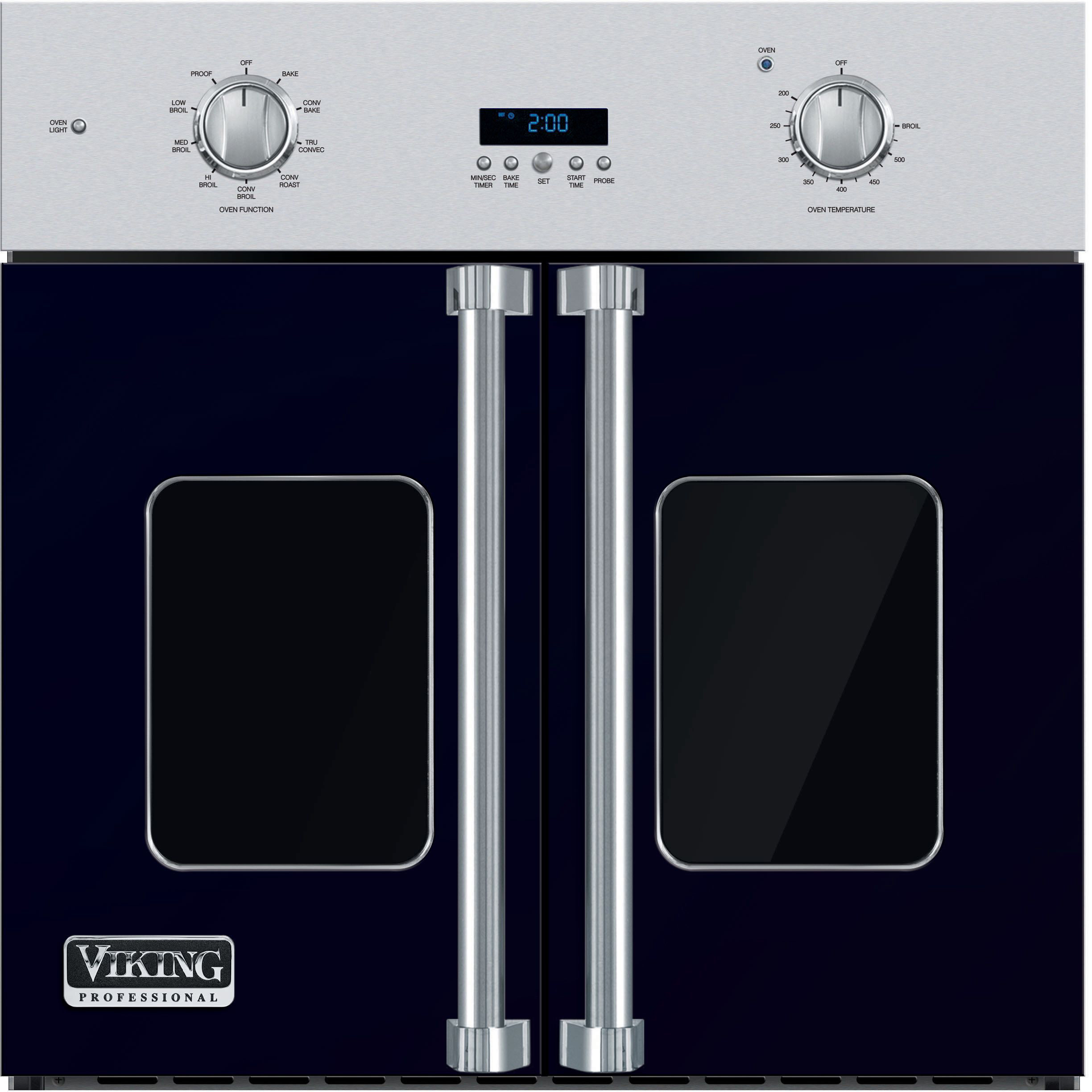 Viking Professional 7 Series. VSOF730CB. 30 Inch Single French Door Wall  Oven ...