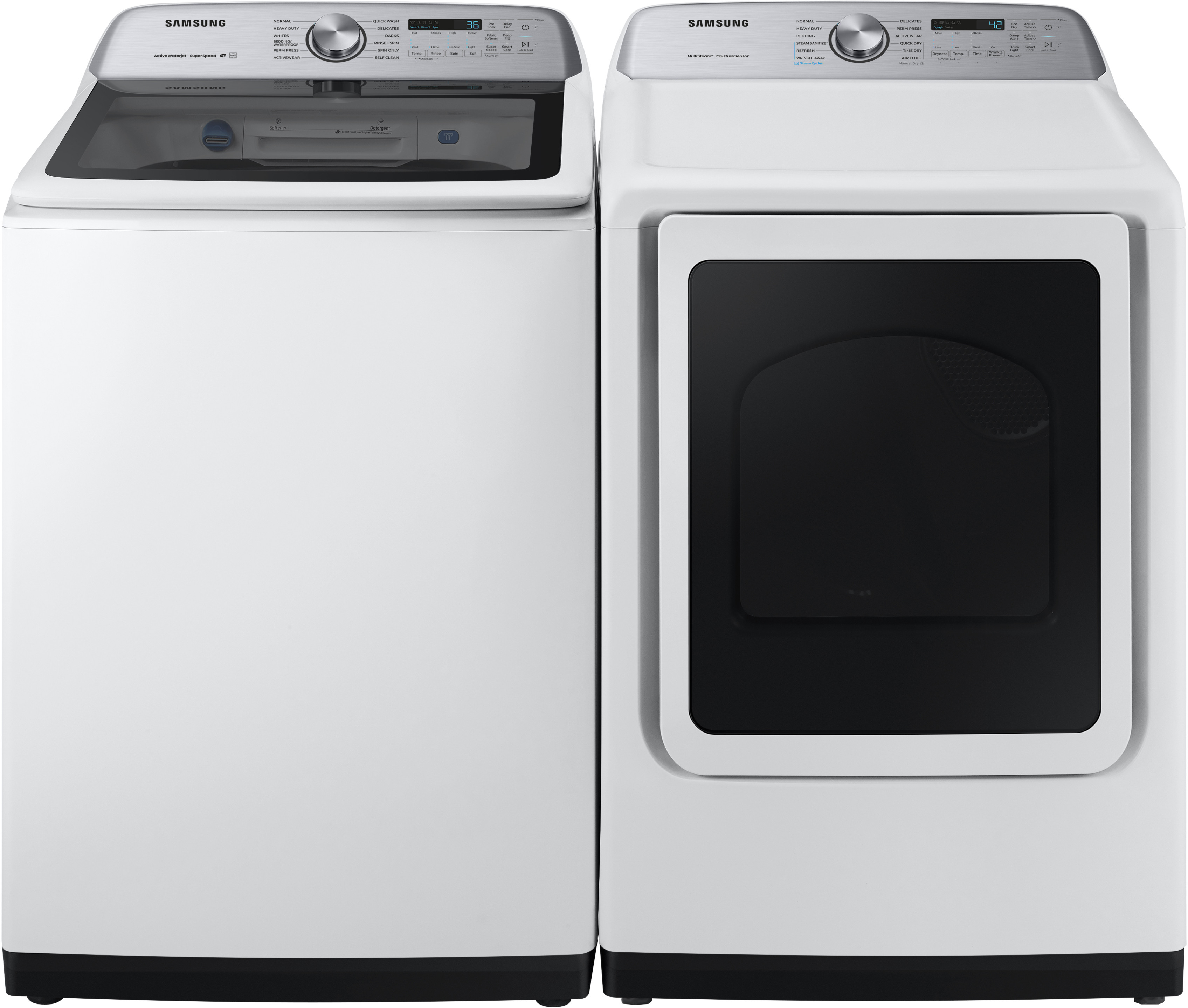 Samsung Sawadrgw54001 Side By Side Washer Amp Dryer Set With