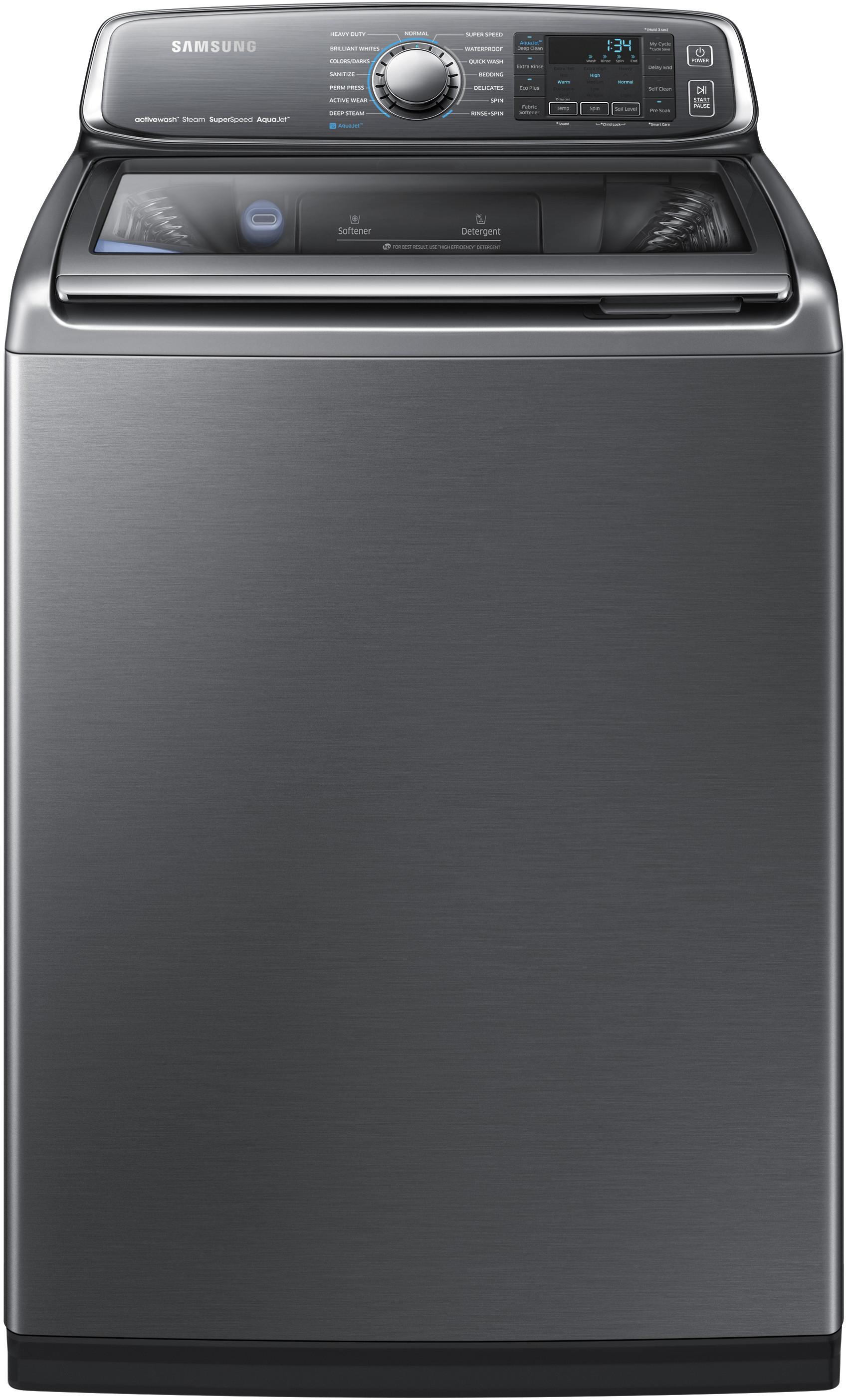 Samsung Wa52j8700ap 27 Inch 5 2 Cu Ft Top Load Washer