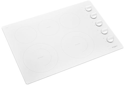 Whirlpool Wce77us0hw 30 Inch Electric Cooktop With 5 Element Cooktop