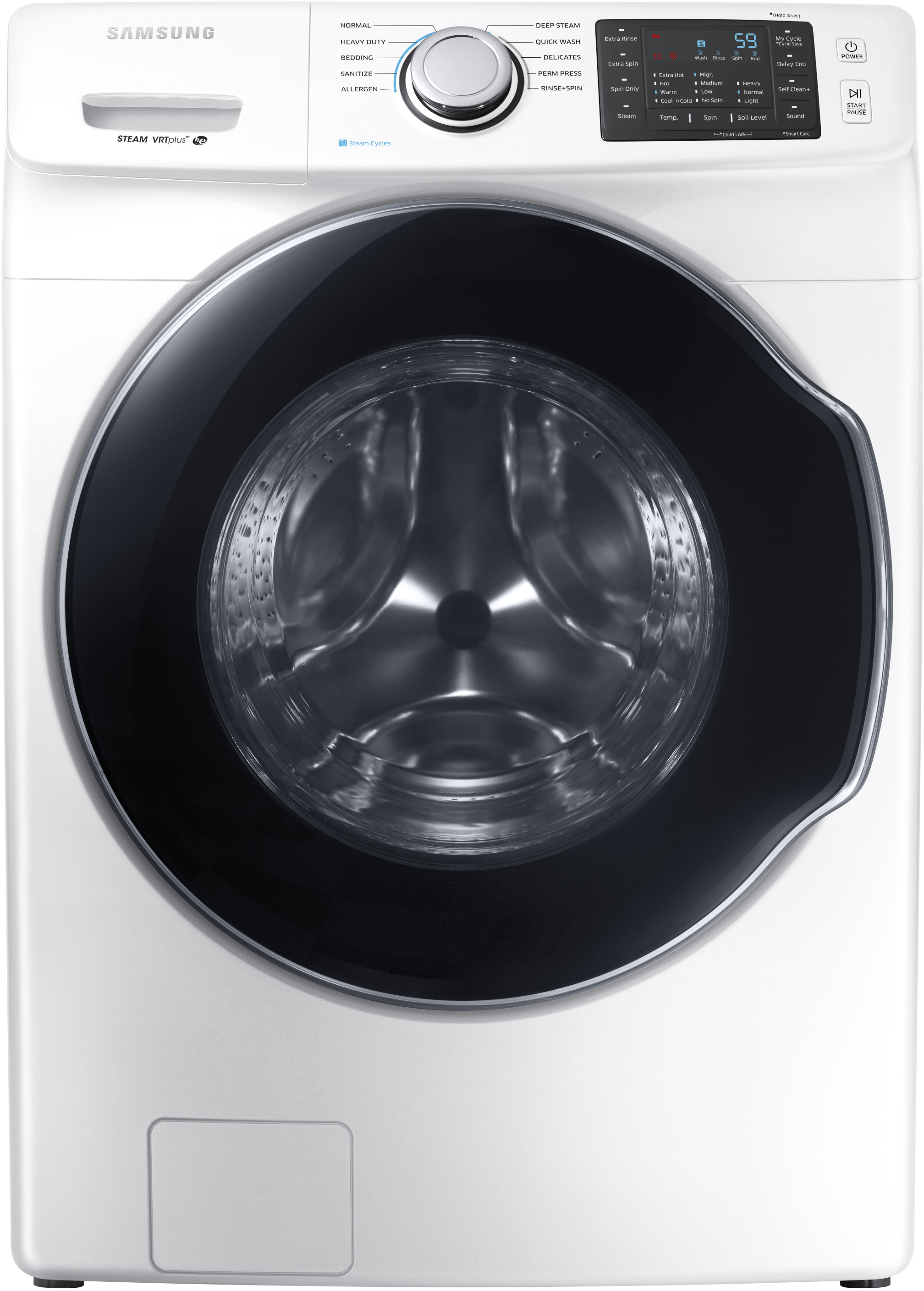 Samsung Wf45m5500aw 27 Inch Front Load Washer With Steam Self