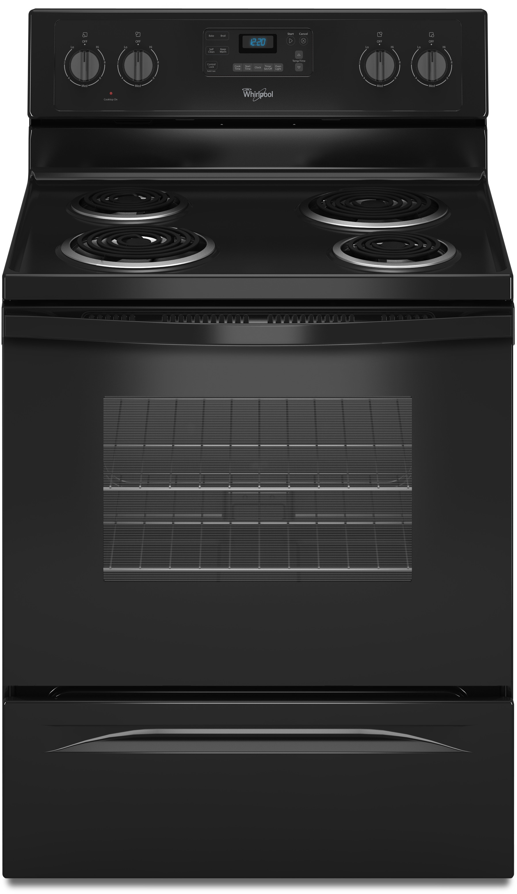 Whirlpool Wfc310s0eb 30 Inch Freestanding Electric Range With 4 Coil Elements  2 600 Watts  4 8