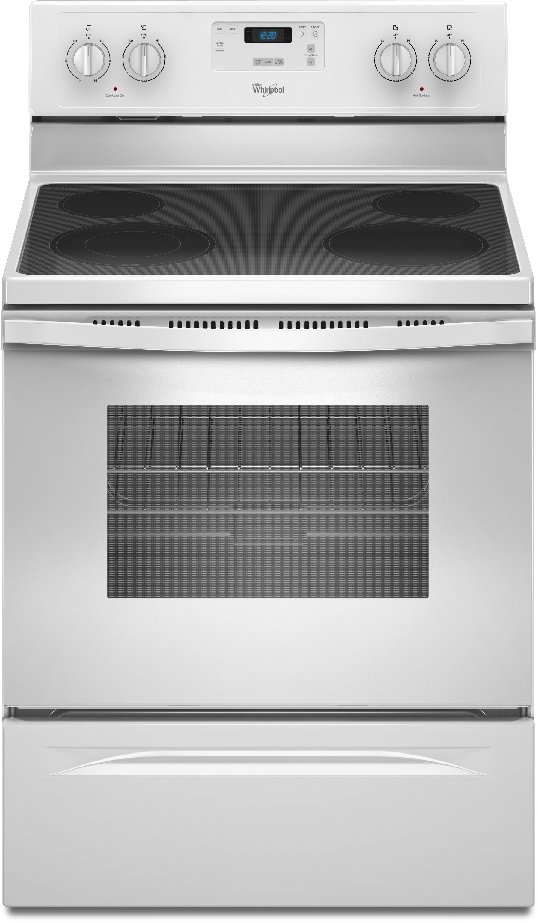 whirlpool electric ranges