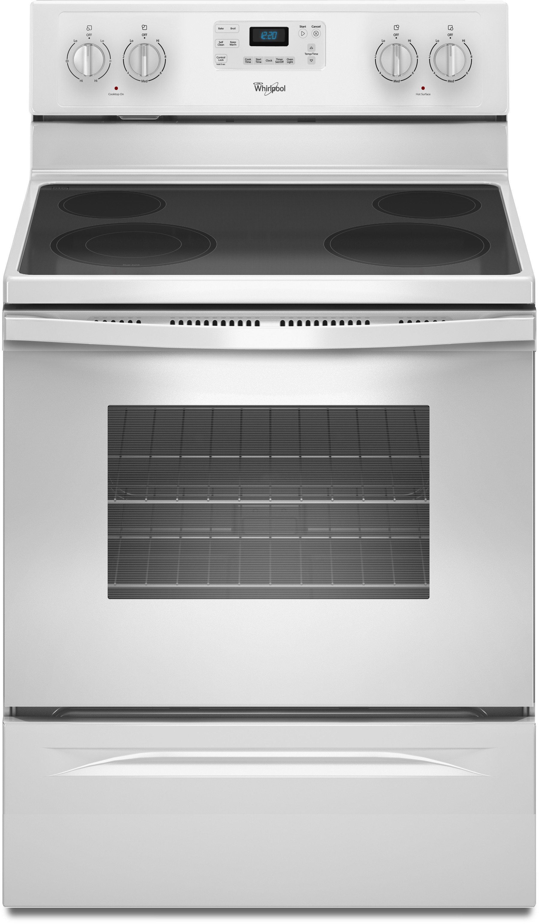 Whirlpool Wfe515s0ew 30 Inch Freestanding Electric Range With Accubake  Flexheat  Steamclean